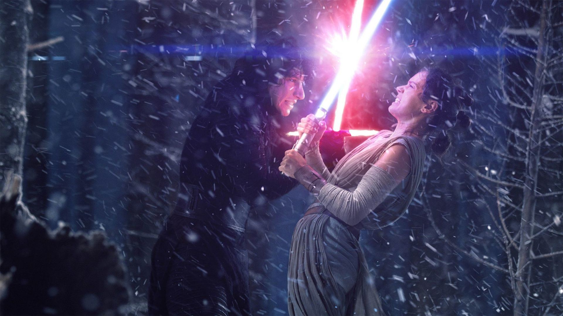 Image result for rey and kylo ren
