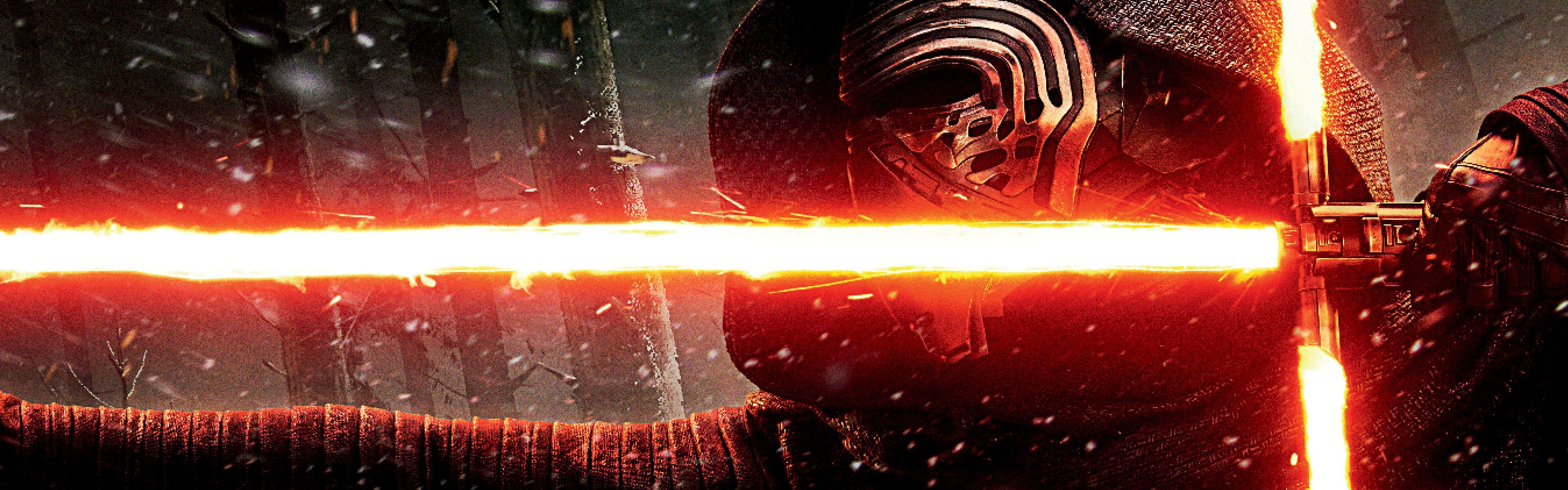 Kylo Ren, Lightsaber, Star Wars: The Force Awakens, Movies Wallpapers HD /  Desktop and Mobile Backgrounds