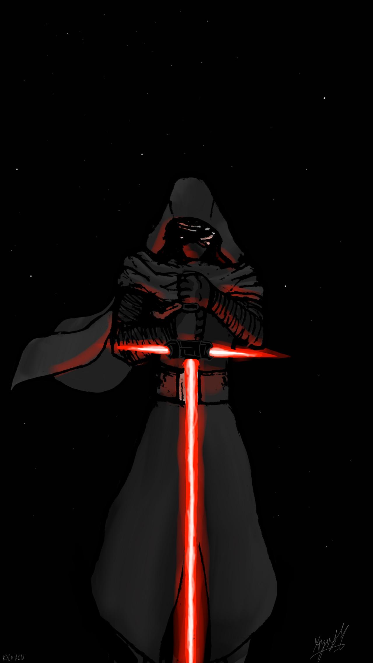 … MALIKISVENGEANCE STAR WARS The Force Awakens – Kylo Ren by  MALIKISVENGEANCE