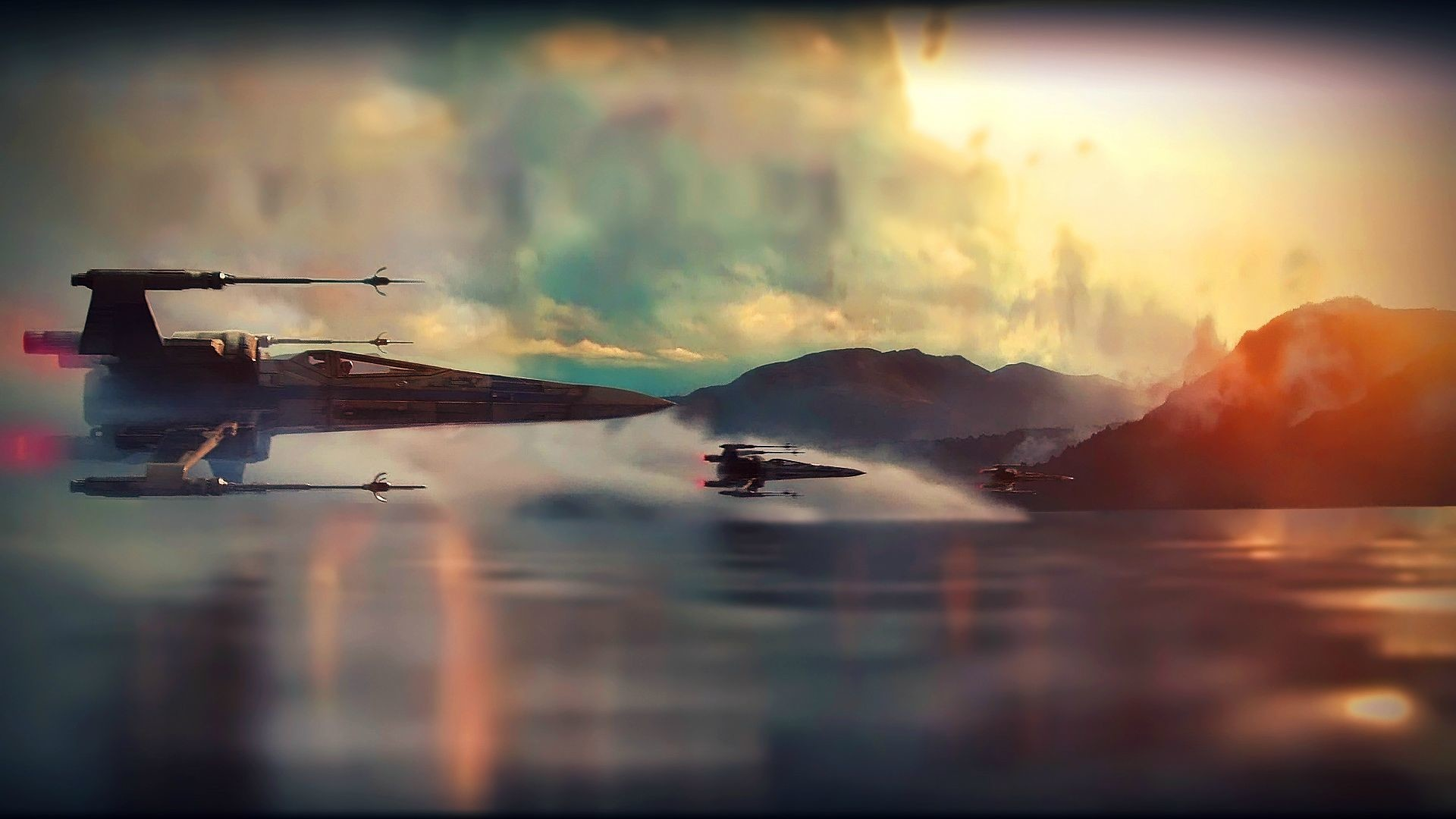 Star Wars Ep VII: The Force Awakens Teaser X-Wing Super Saturated/Colorful  Wallpaper …