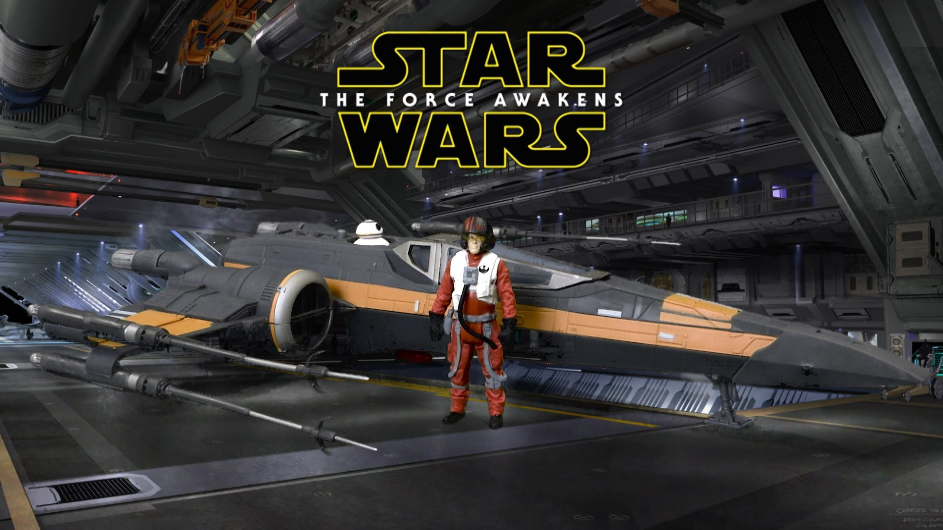 Star Wars The Force Awakens Poe's X-Wing Fighter with Poe Dameron Figure  from Hasbro – YouTube