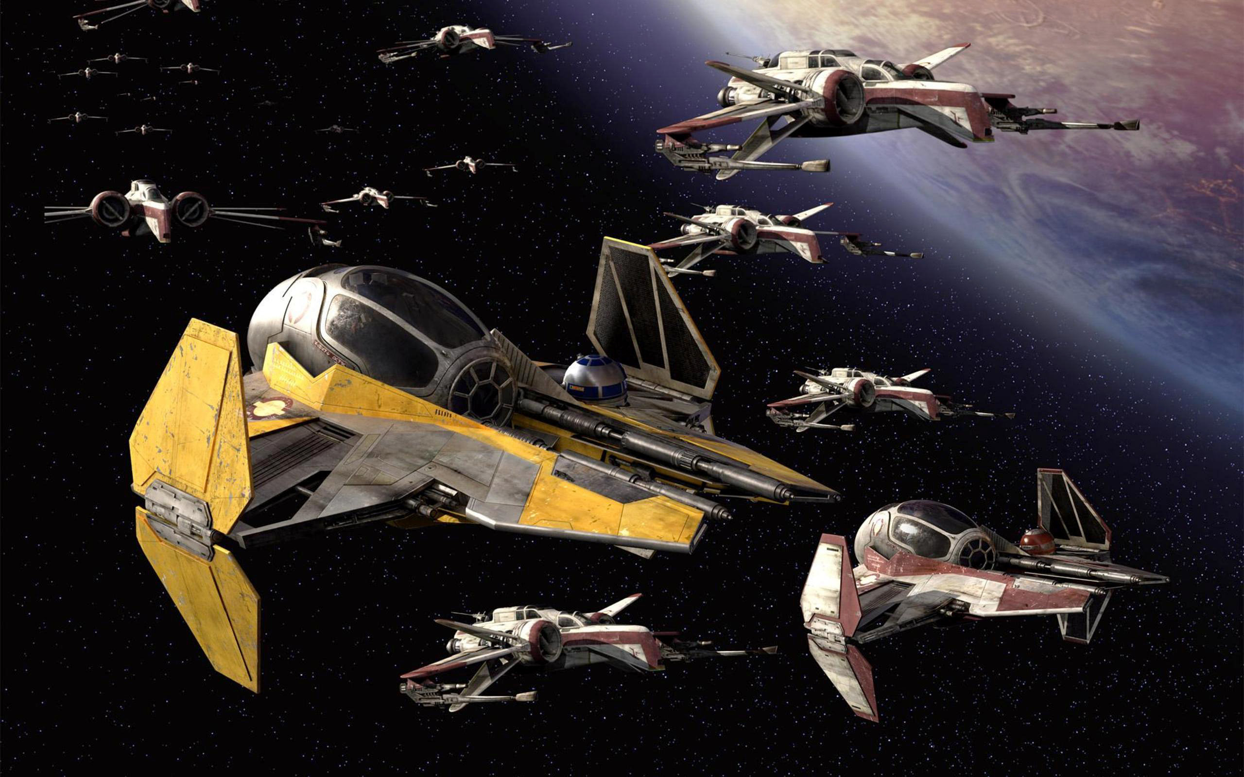 Movie Star Wars CGI Ship X-wing Planet Stars Space Video Game Wallpaper