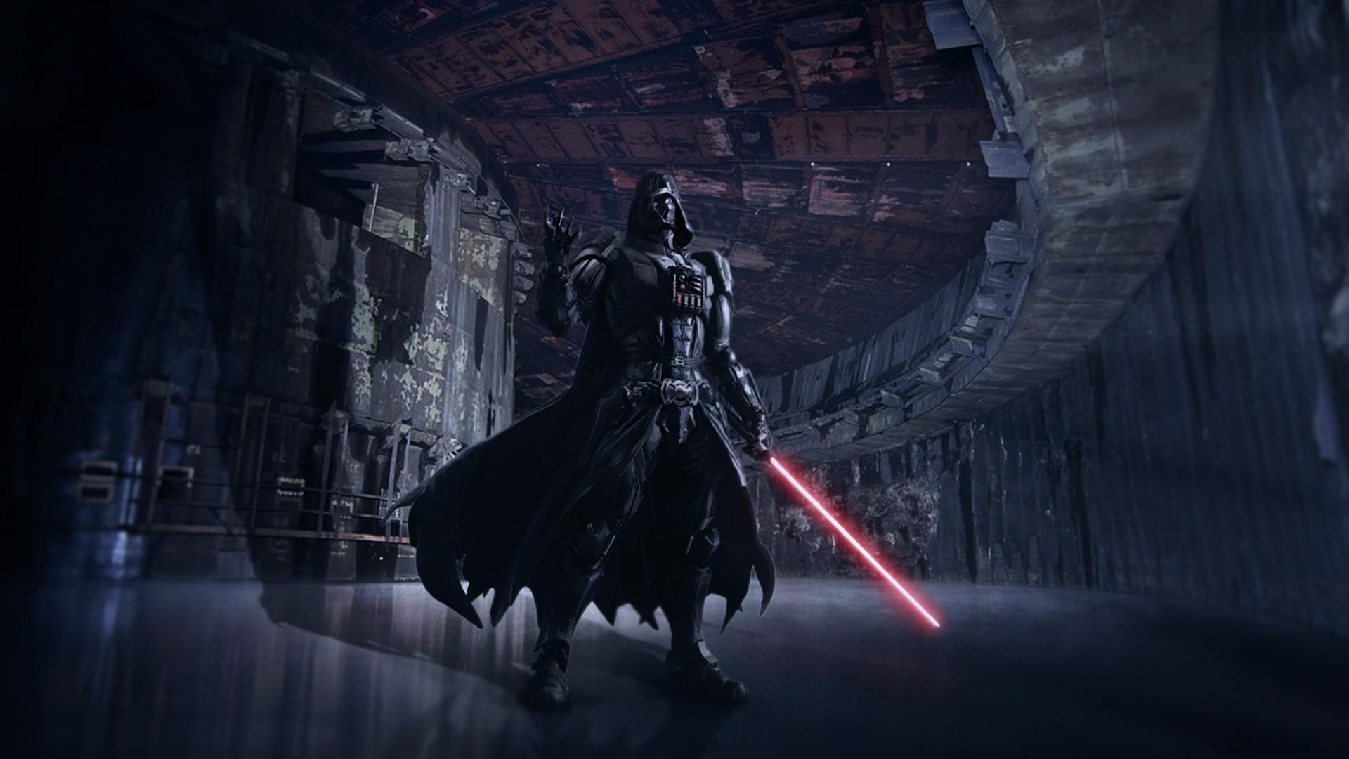 Darth Vader, Star Wars, Adobe Photoshop. artwork, Star Wars, Star Wars:  Episode VII The Force Awakens, X wing Wallpaper HD