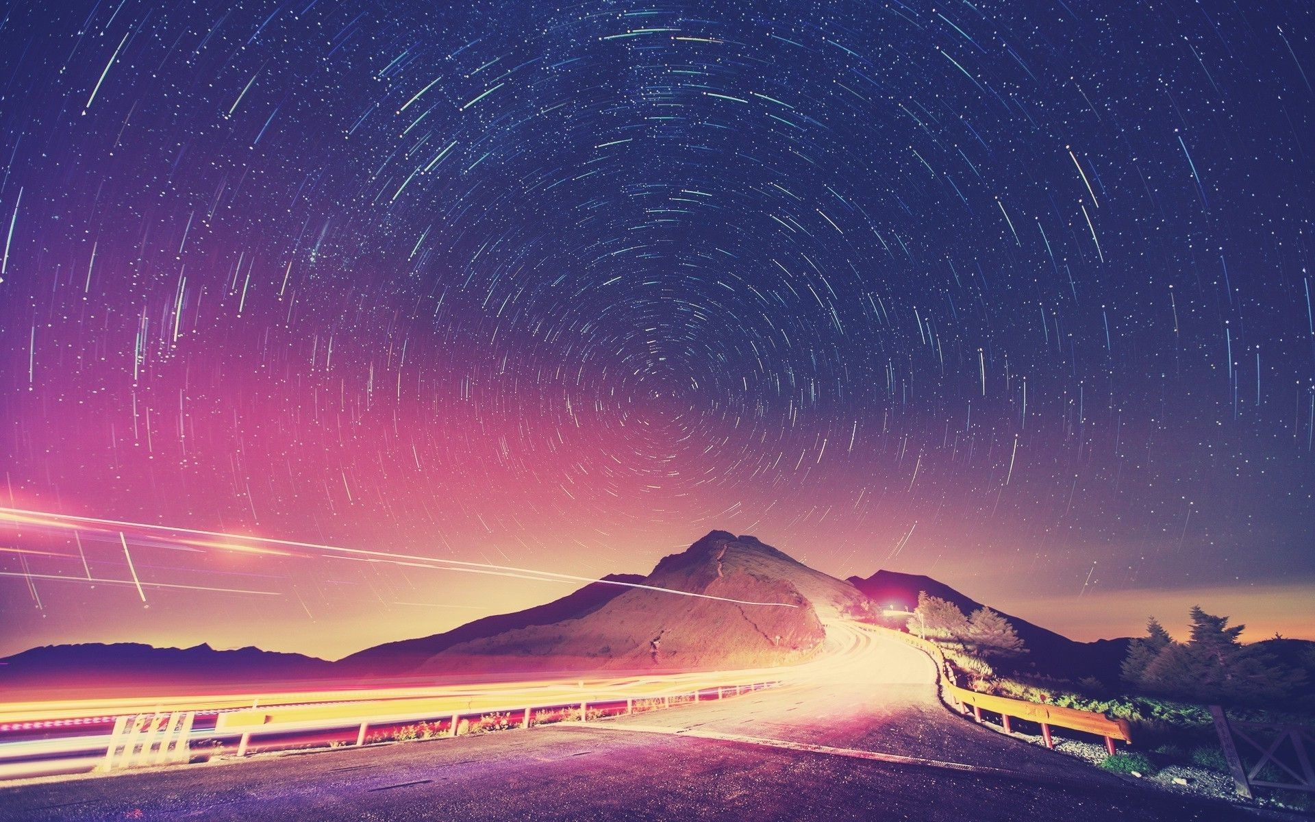 Top Night Sky Mountains Stars Images for Pinterest
