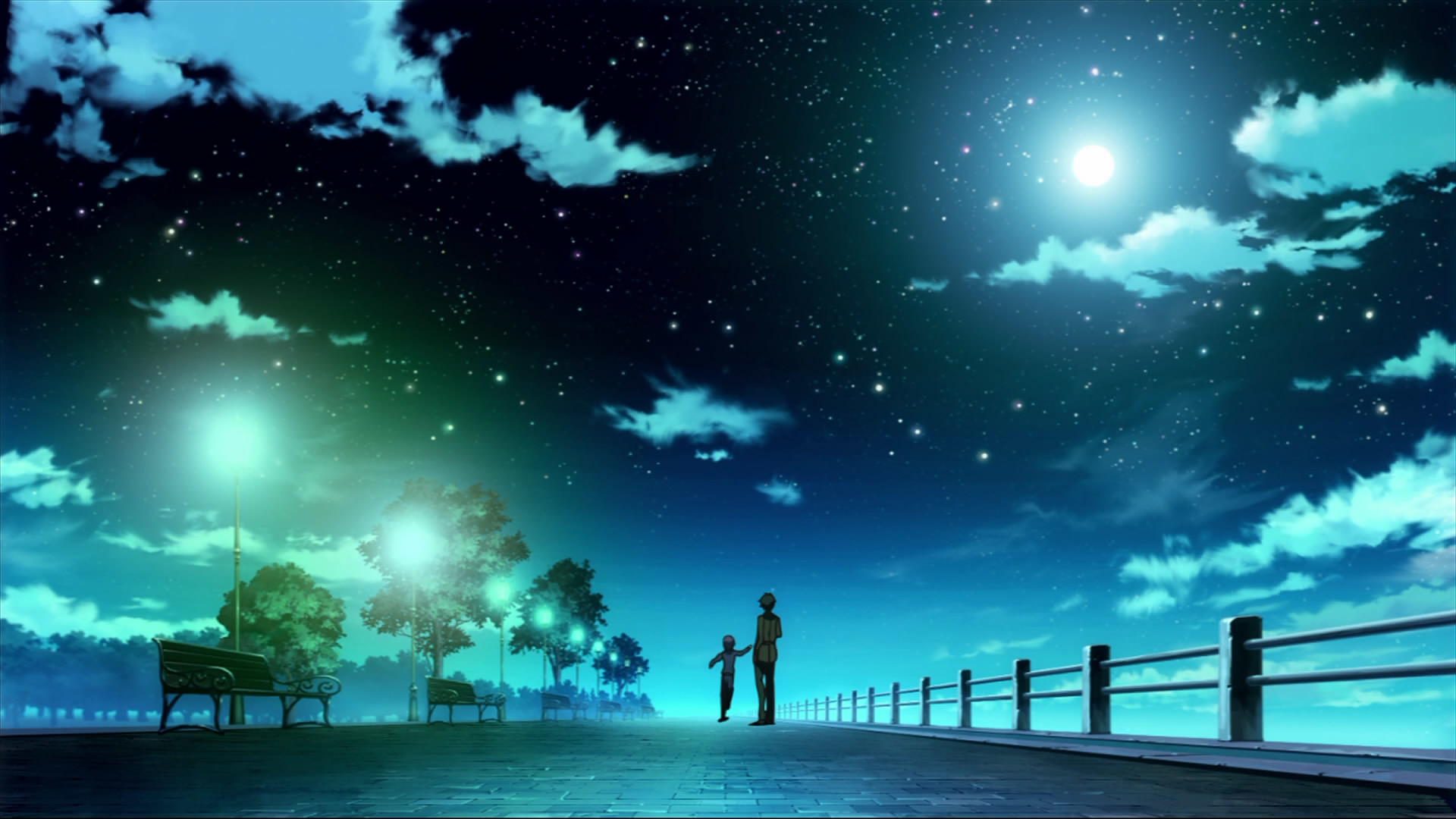 justpict.com Anime Night Sky Wallpaper