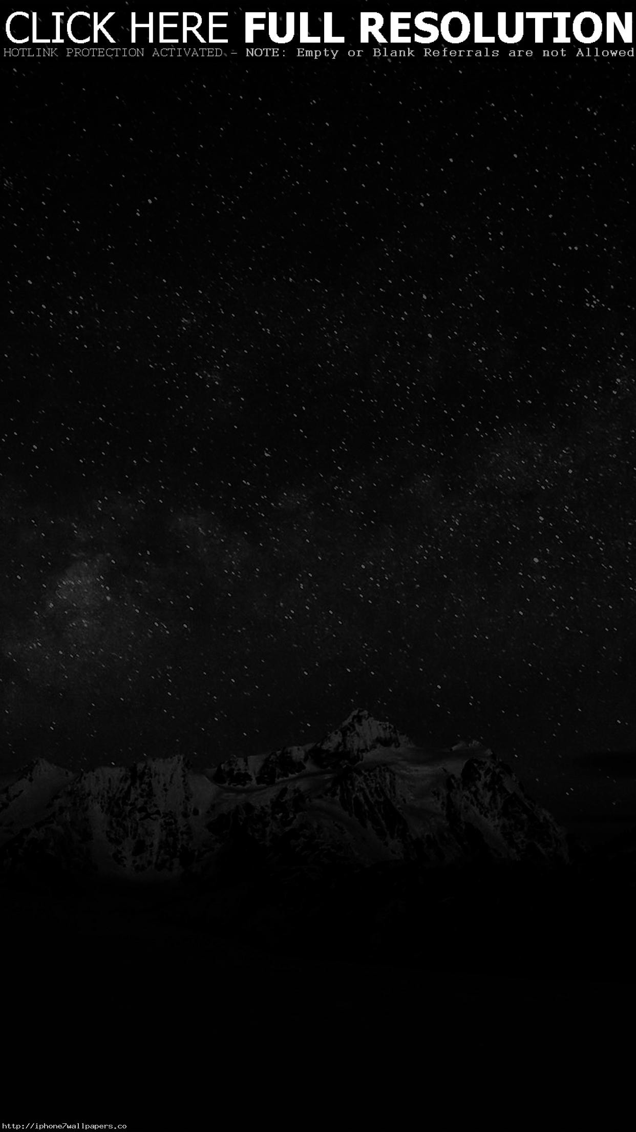 Starry Night Sky Mountain Nature Bw Dark Android wallpaper – Android HD  wallpapers