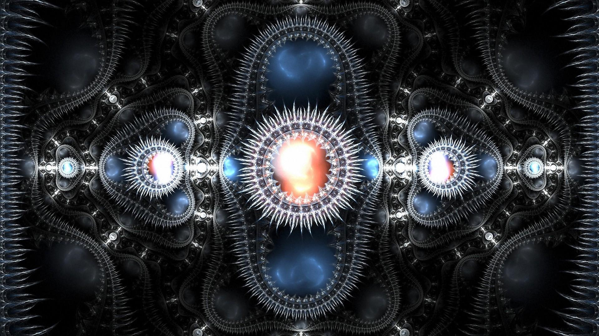 Weird Abstract Machine In Galaxy Wallpaper