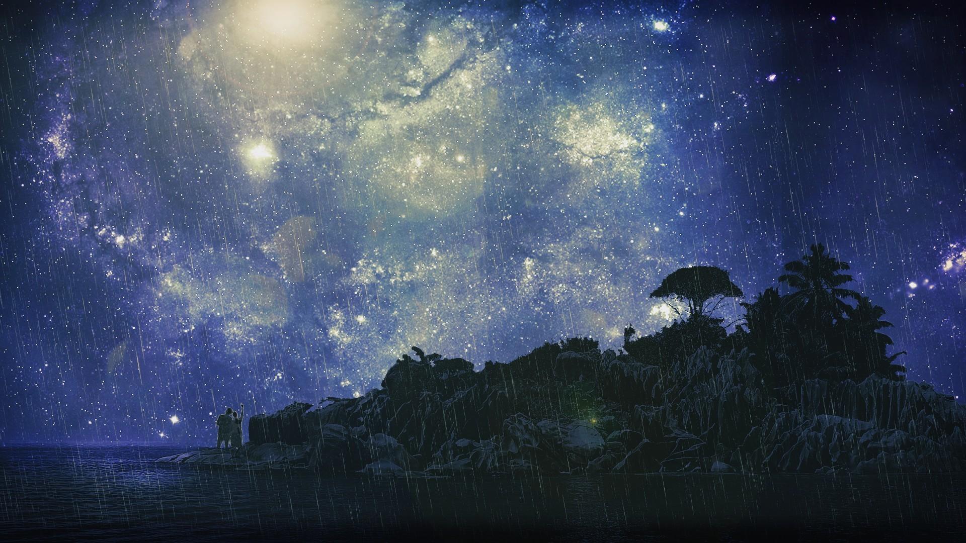 секрет, что красивое звездное небо картинка на рабочий стол вид