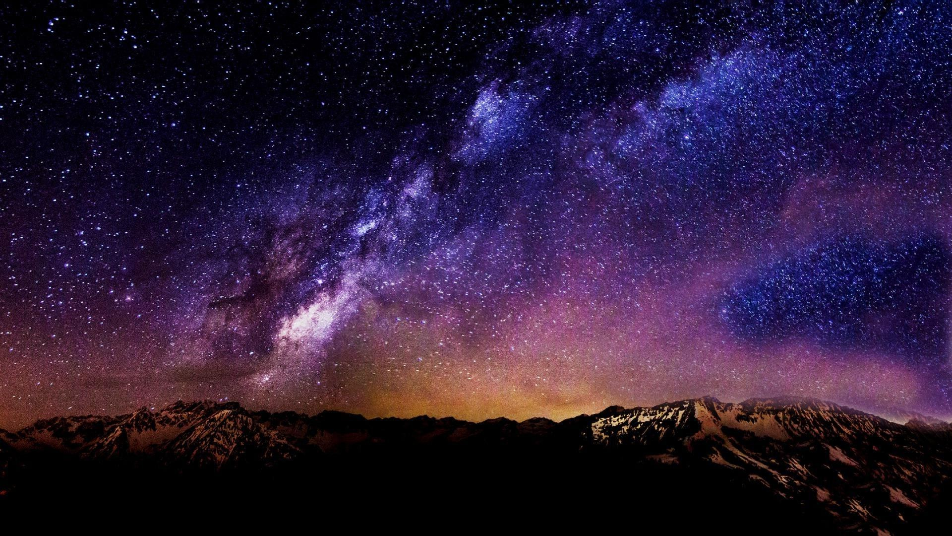 Starry Night Sky HD desktop wallpaper : High Definition .