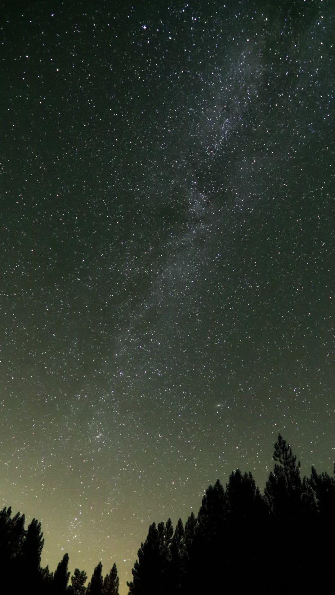 Nature starry night sky HD Samsung S4 wallpaper