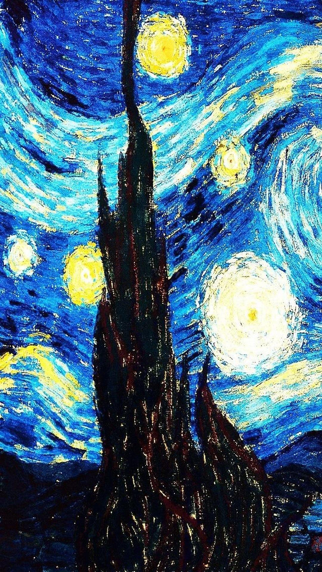 Download vincent van gogh starry night 1080 x 1920 Wallpapers – 4245213 |  mobile9