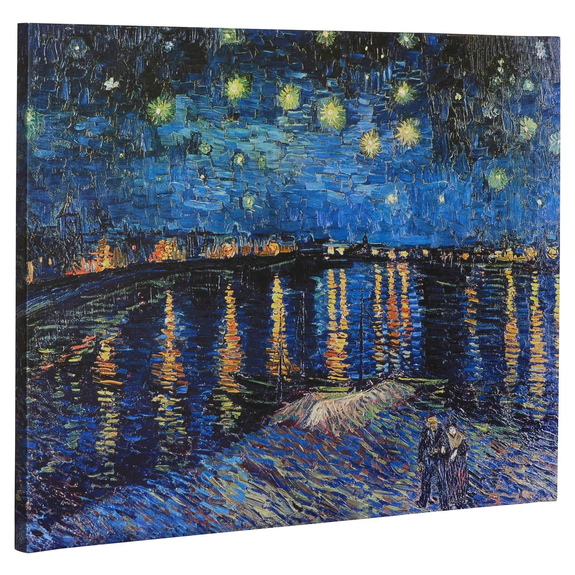 N Starry Night By Van Gogh Canvas Print Www
