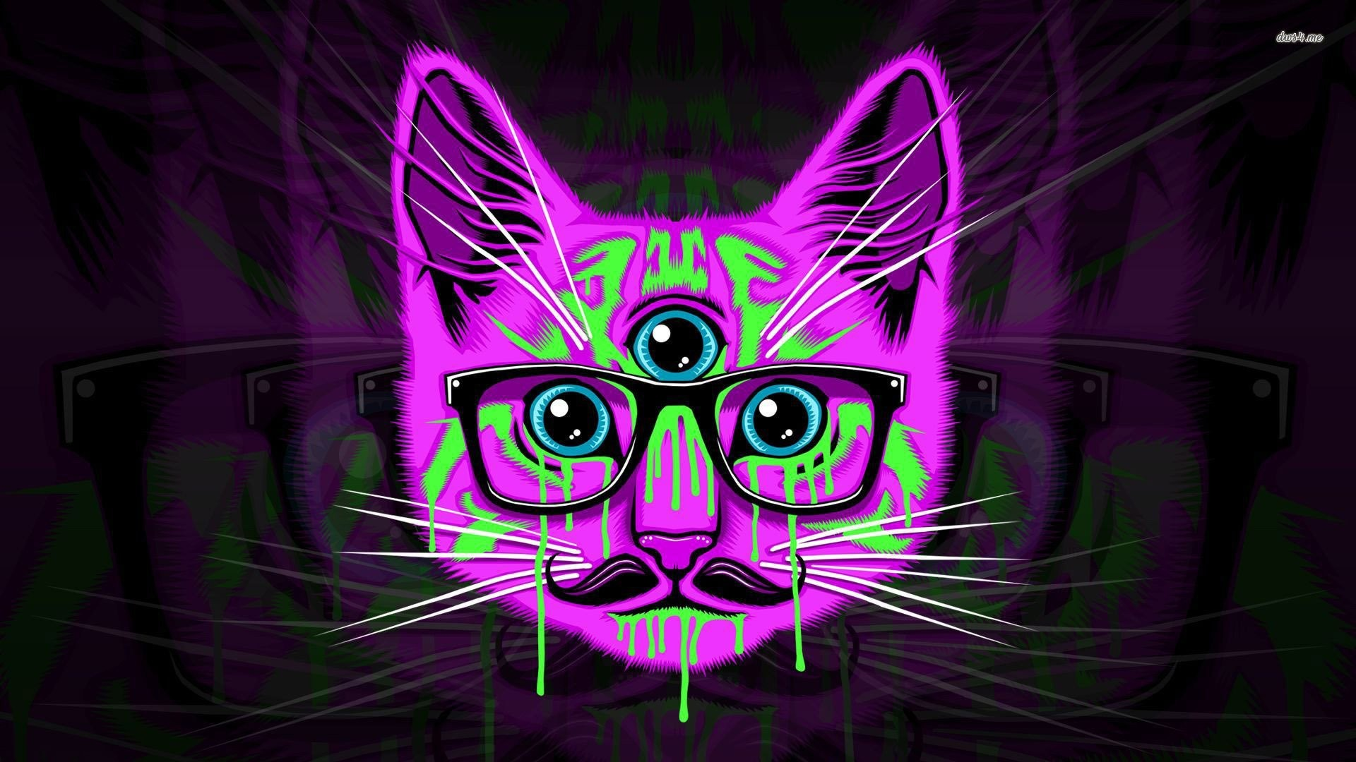Hipster Cat wallpaper for iphone