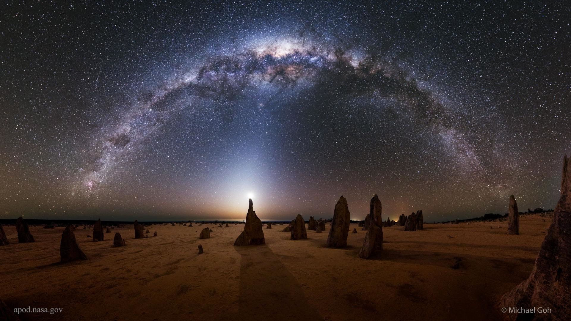 … milky way in australia s pinnacles wallpaper by hd wallpapers daily …