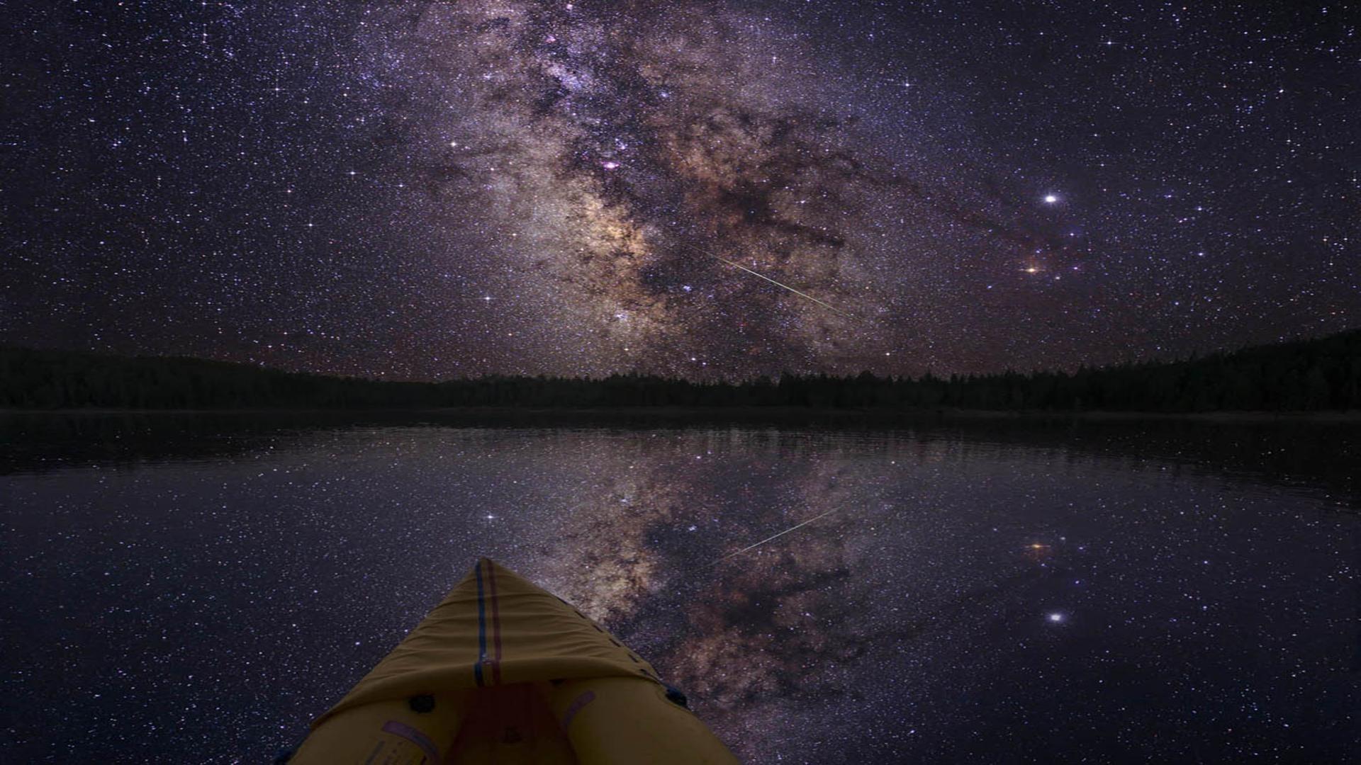 <b>Milky Way</b> Galaxy Visible In The <b>