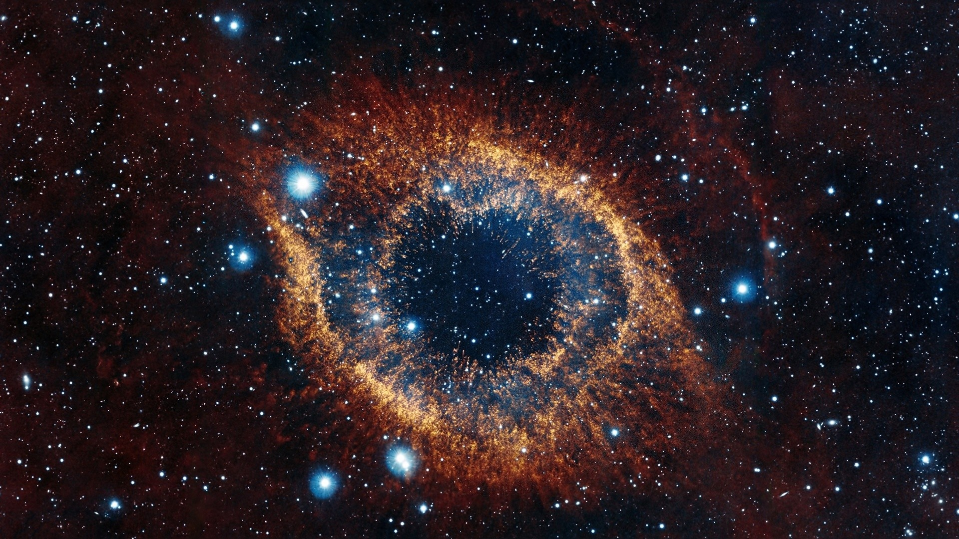 Preview wallpaper helix nebula, space, stars, explosion, brilliance  1920×1080