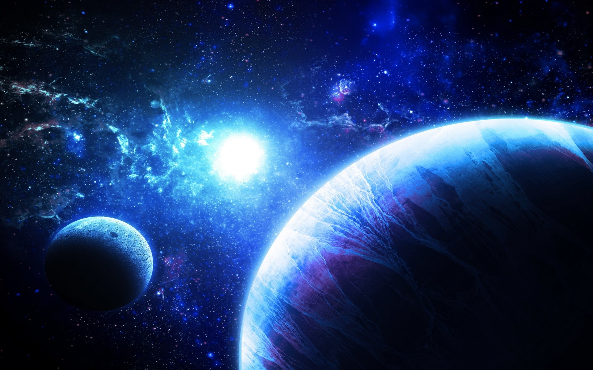 Blue Space. Blue Space Desktop Background