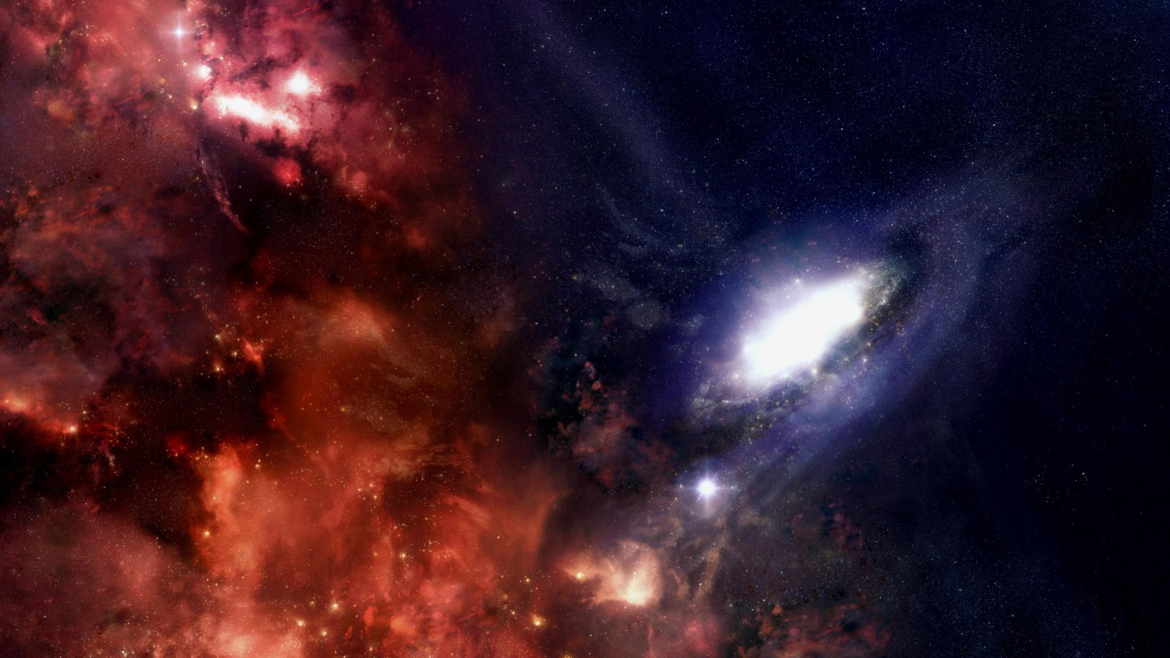 Preview wallpaper galaxy, stars, black holes, universe 3840×2160