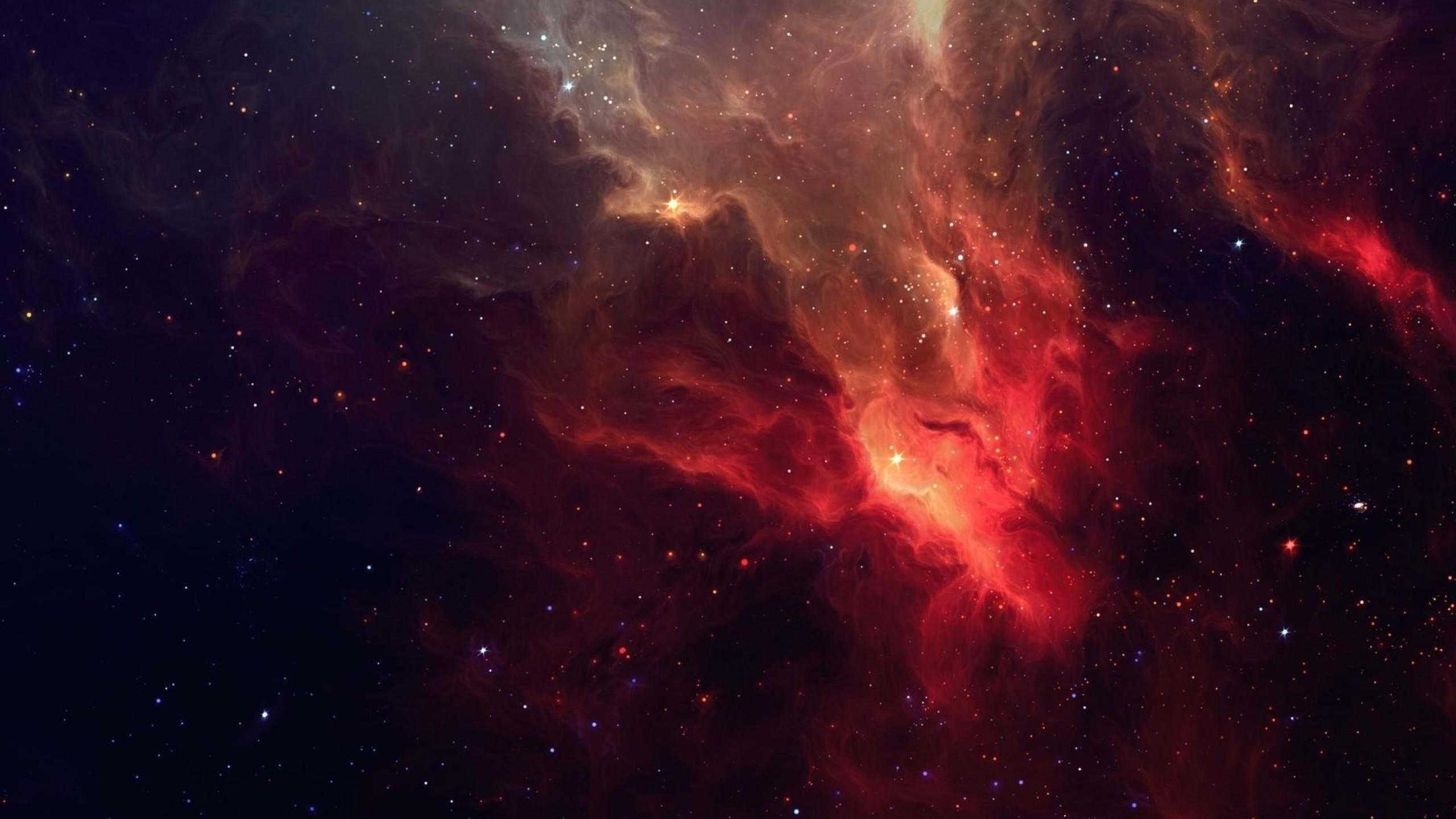 Preview wallpaper galaxy, stars, light, nebula 2560×1440