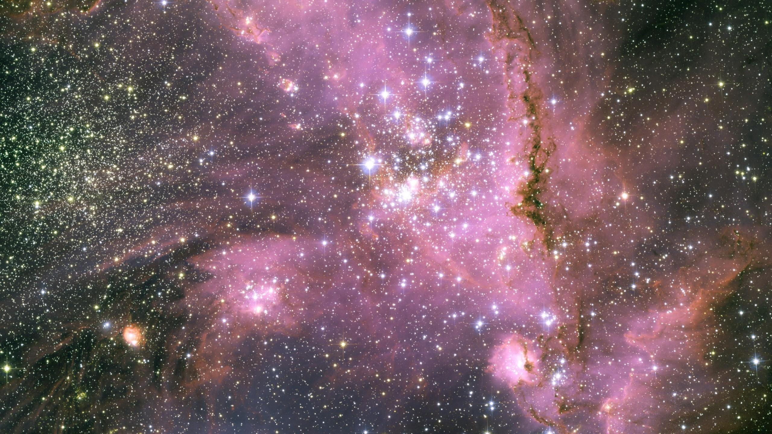 Download Wallpaper Stars, Pink, Light, Galaxy Mac iMac 27 HD .