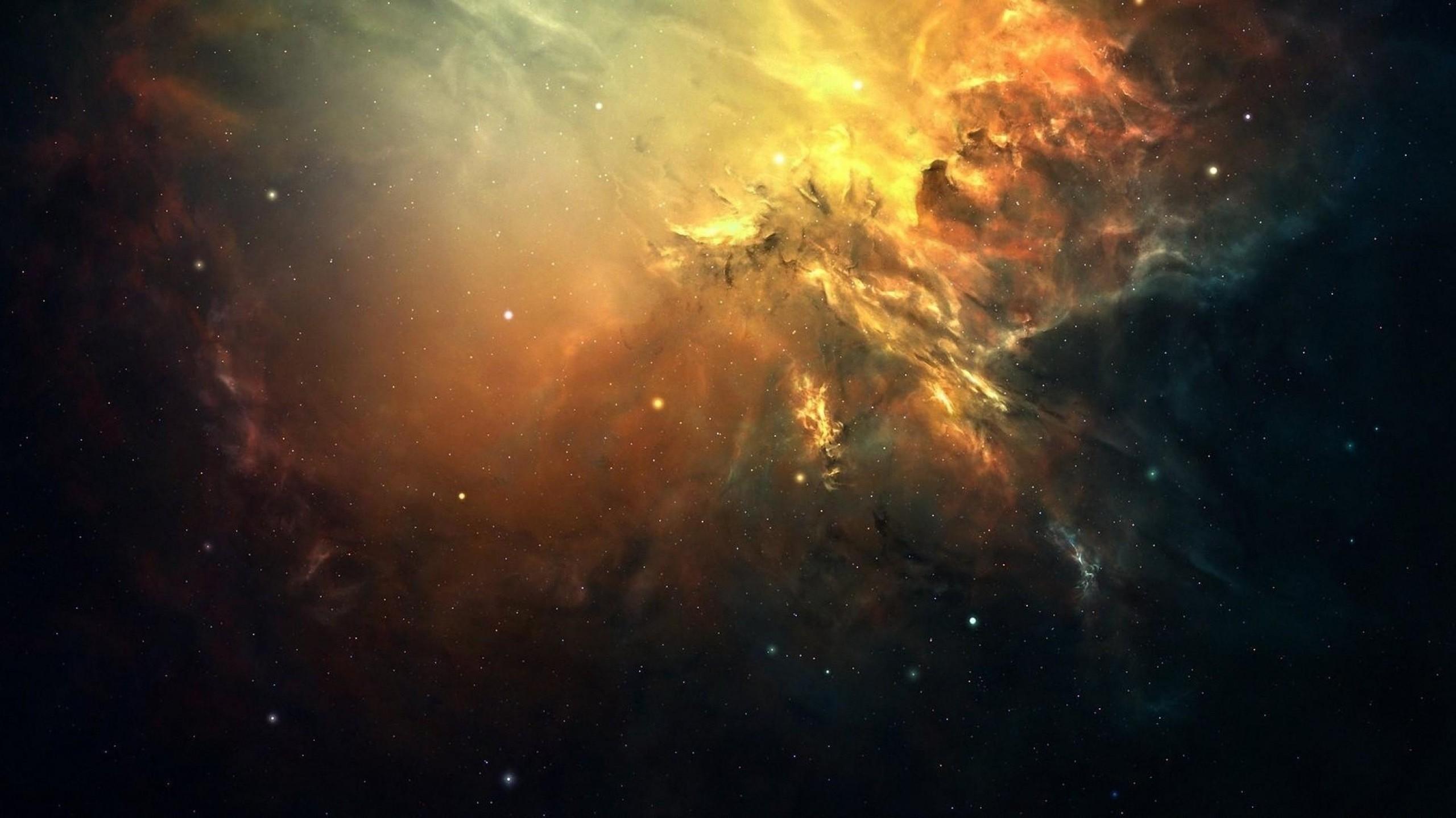Preview wallpaper galaxy, space, light, stars, nebula 2560×1440