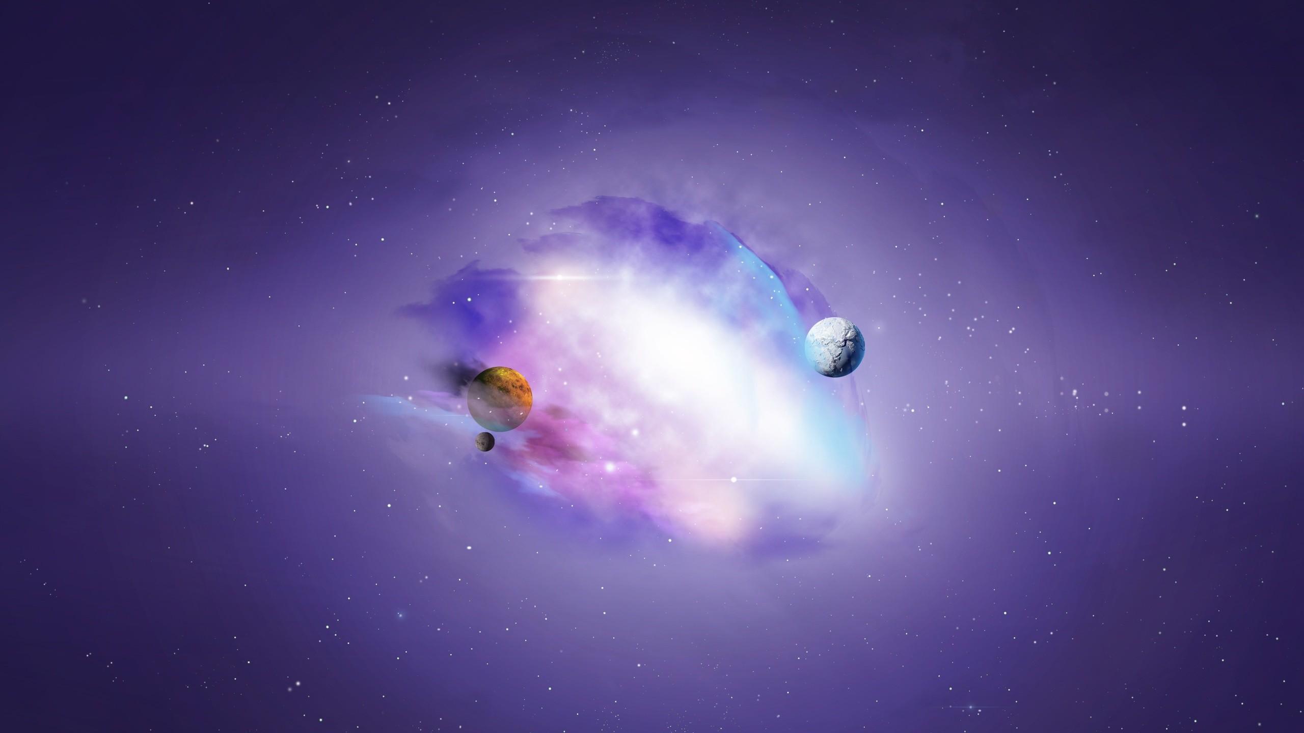 Purple Universe Galaxy