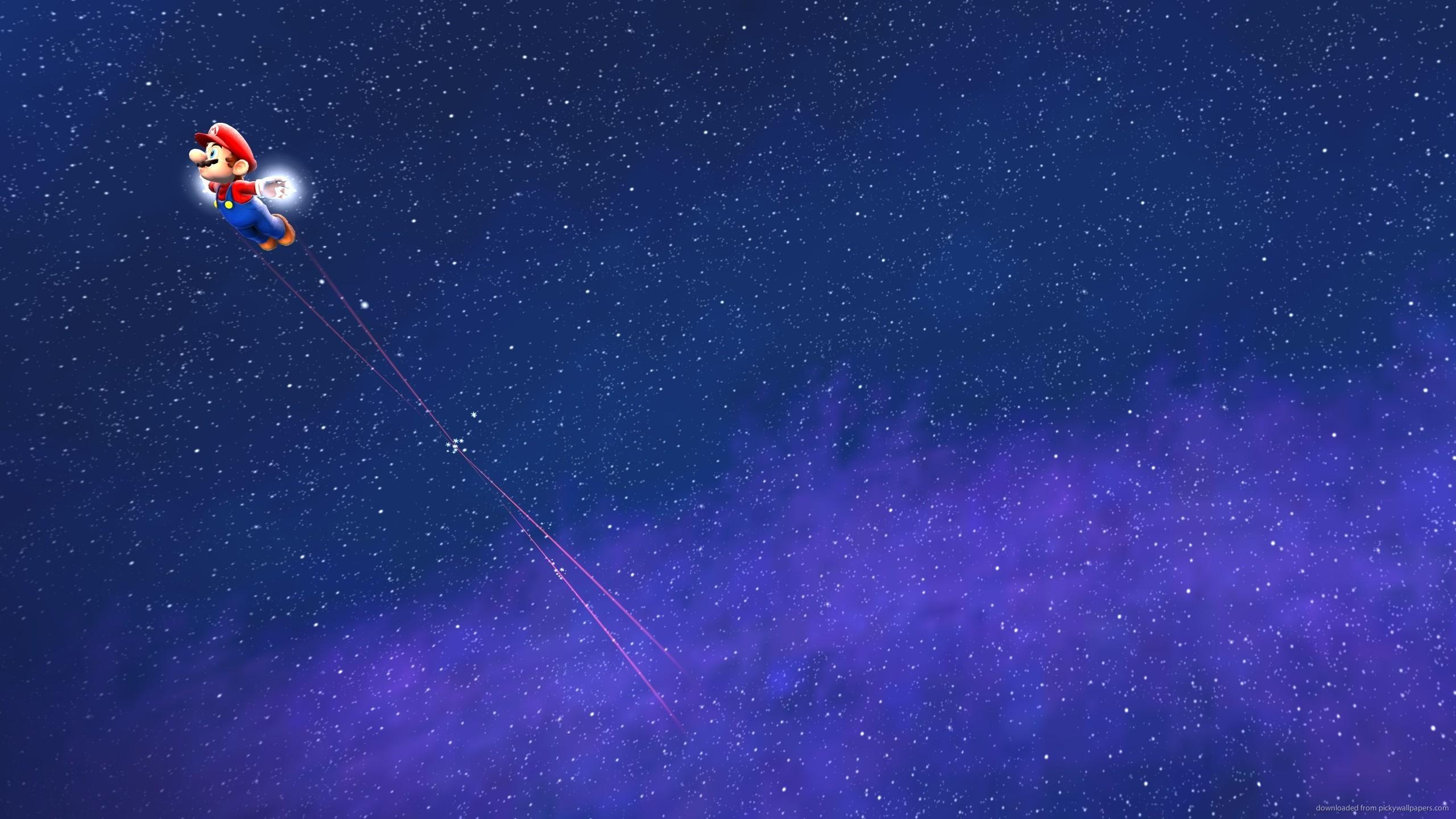 Super Mario Galaxy In Space for 2560×1440