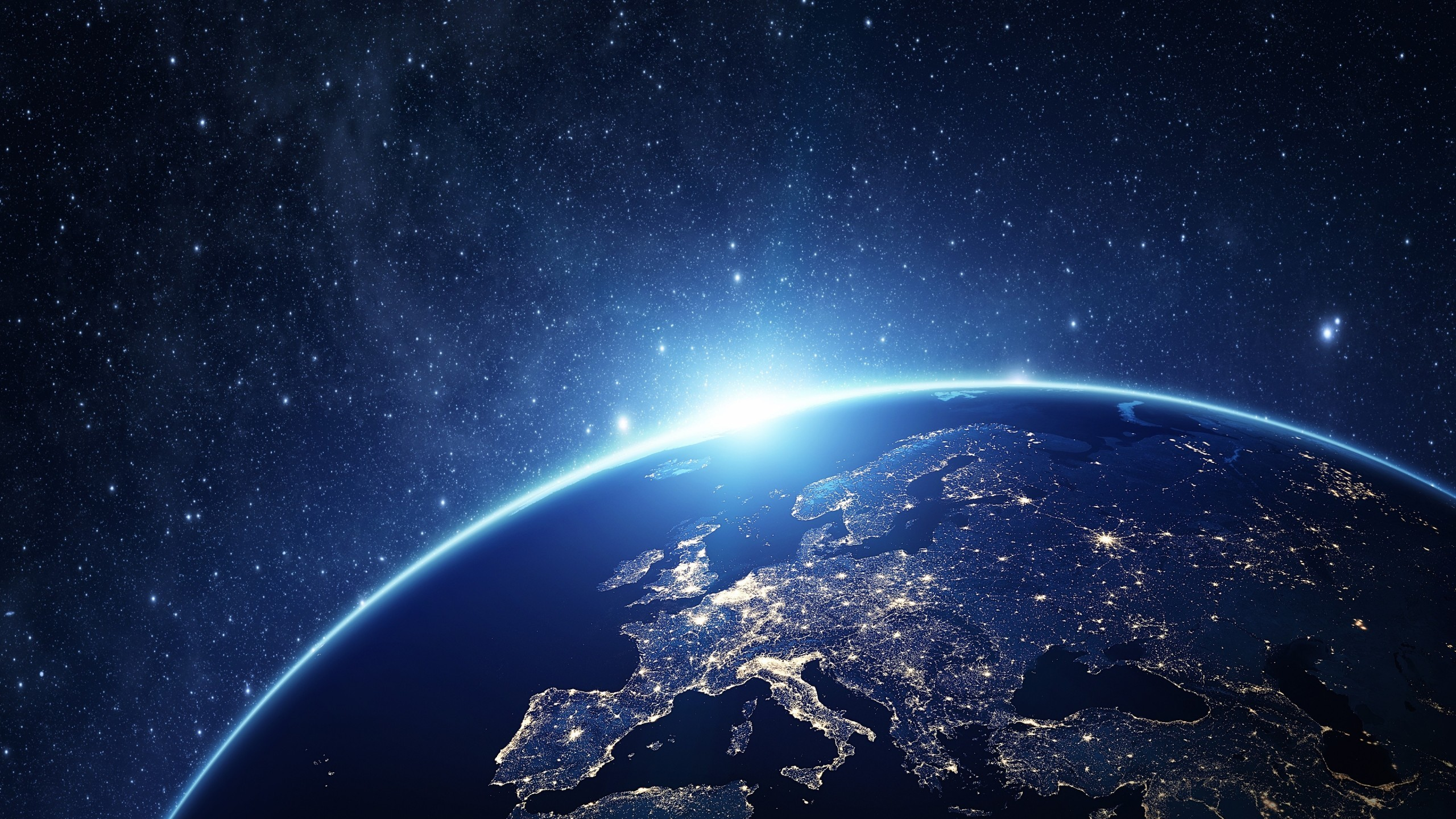 Download Earth, Stars, Lights, Galaxy Wallpapers. Earth, Stars,  Lights, Galaxy