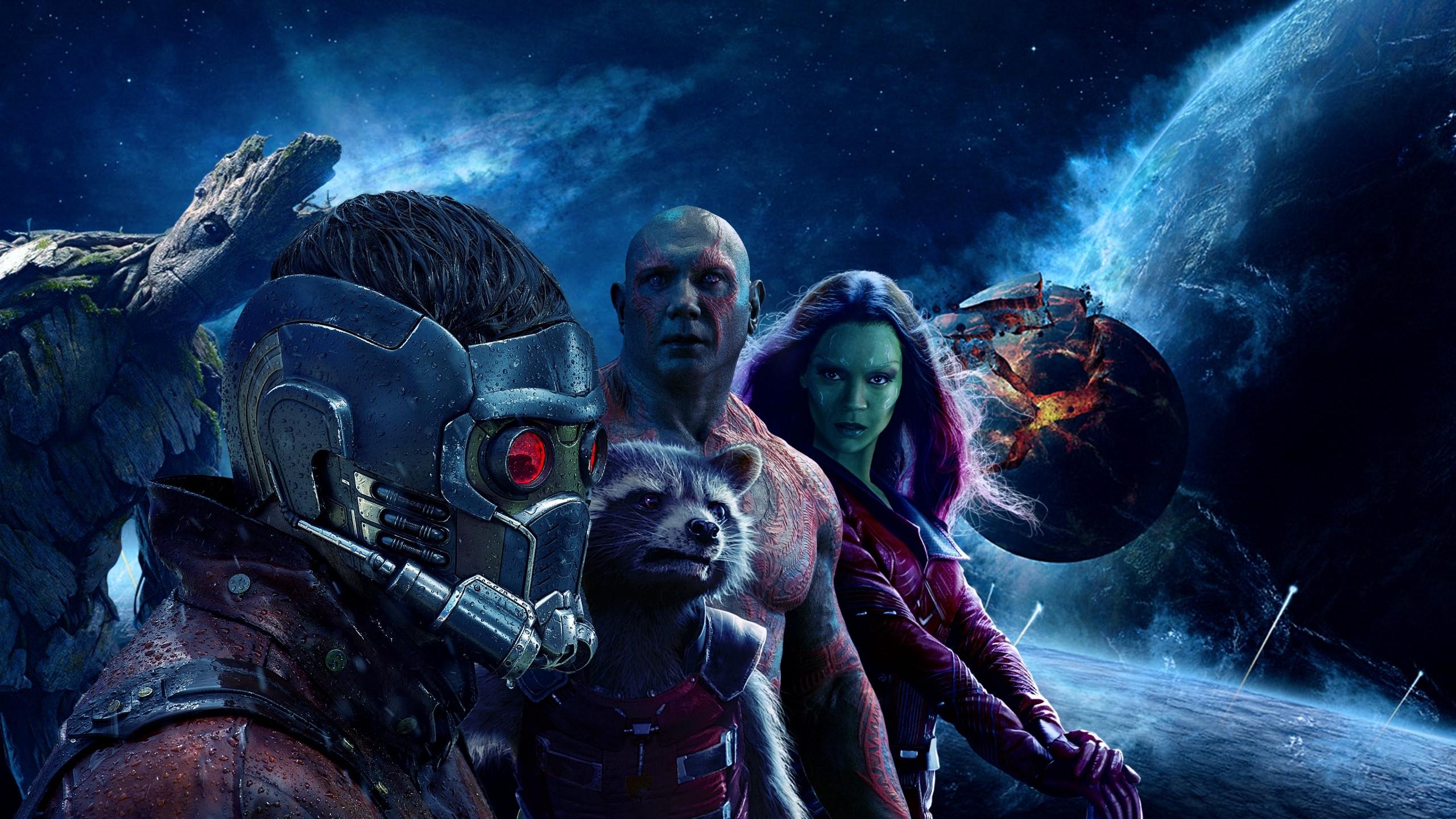 Wallpaper guardians of the galaxy vol 2, peter quill, gamora,  rocket,