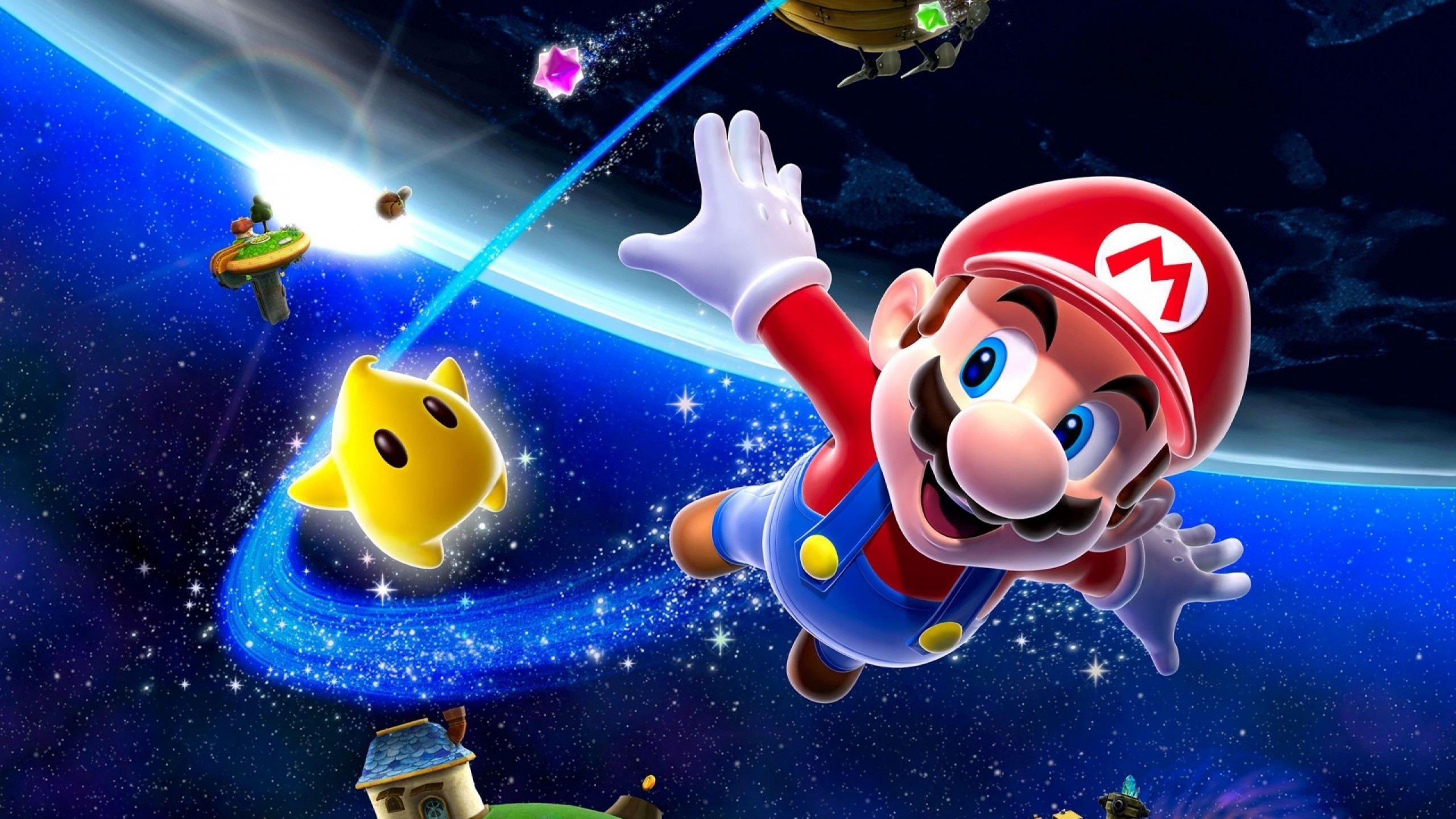 Wallpaper mario, space, characters, stars