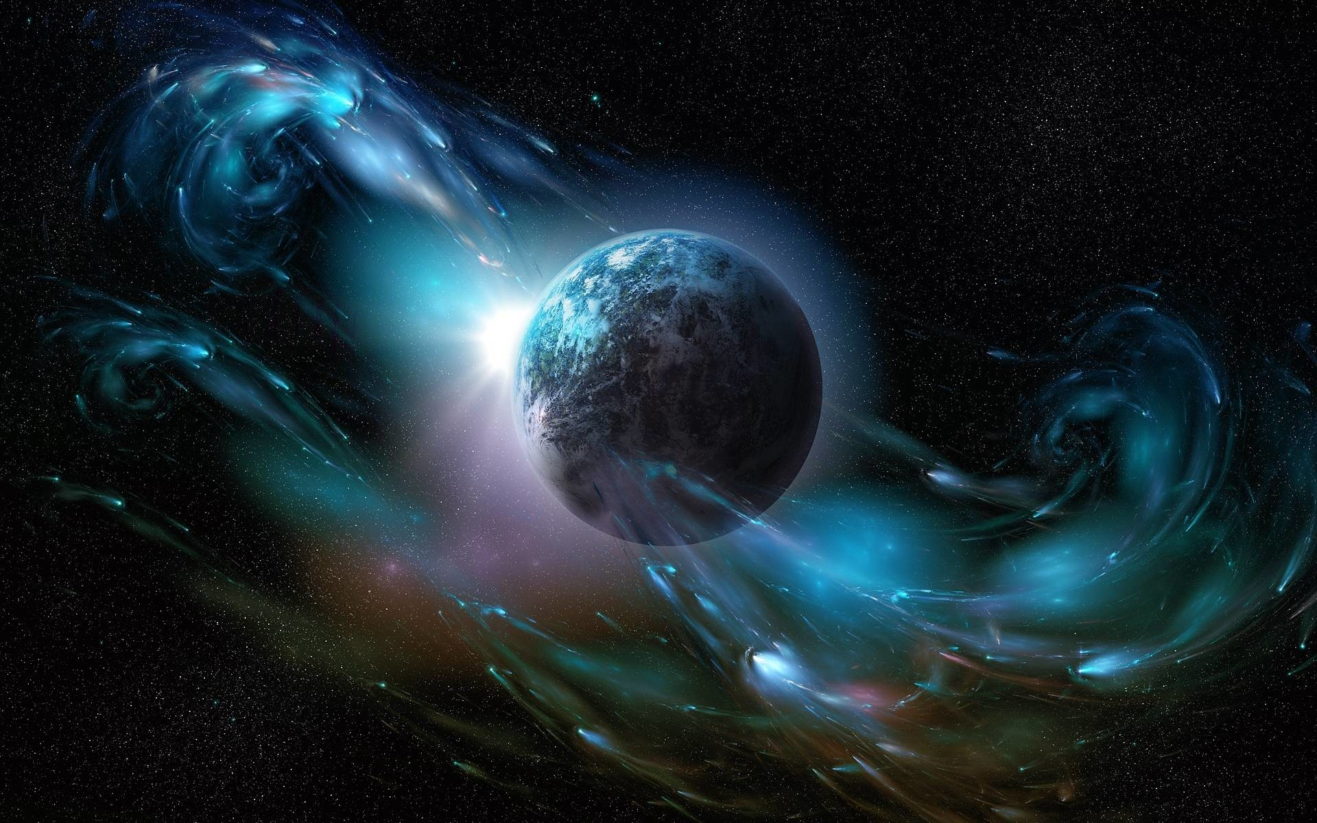 Earth From Outer Space Desktop Wallpaper – HDwallshare.com