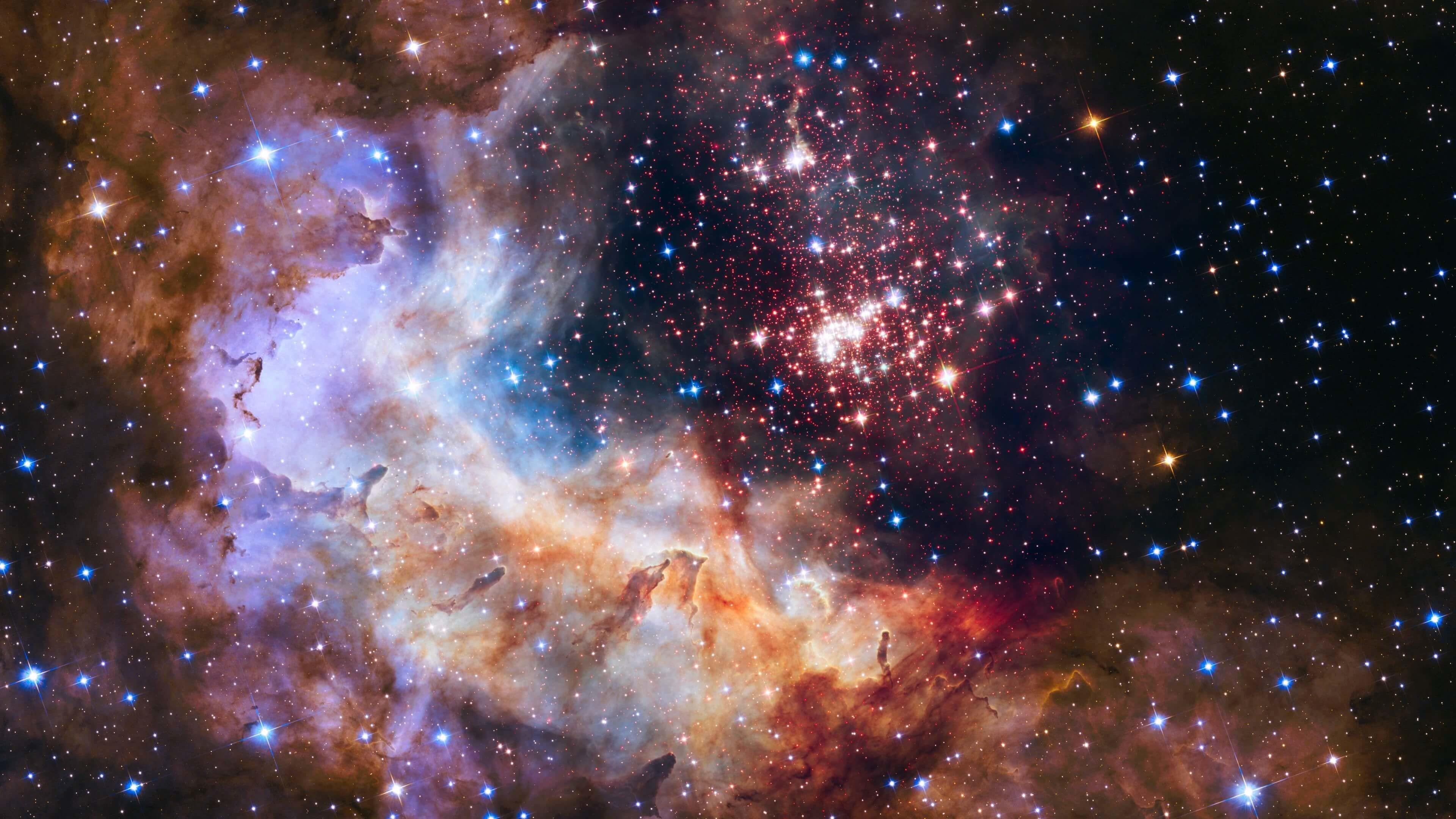 Celestial Fireworks Hubble 25th Anniversary 4K Wallpaper