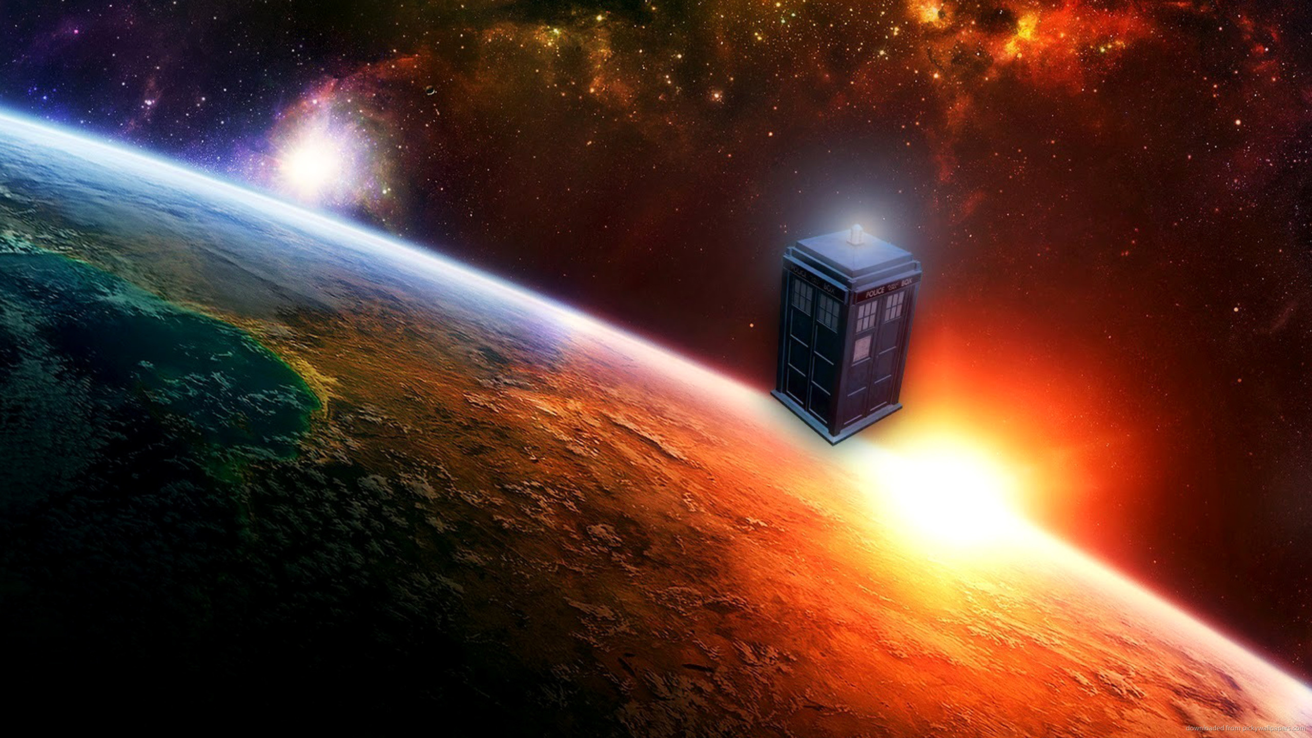 Tardis Drifting In Open Space for 2560×1440