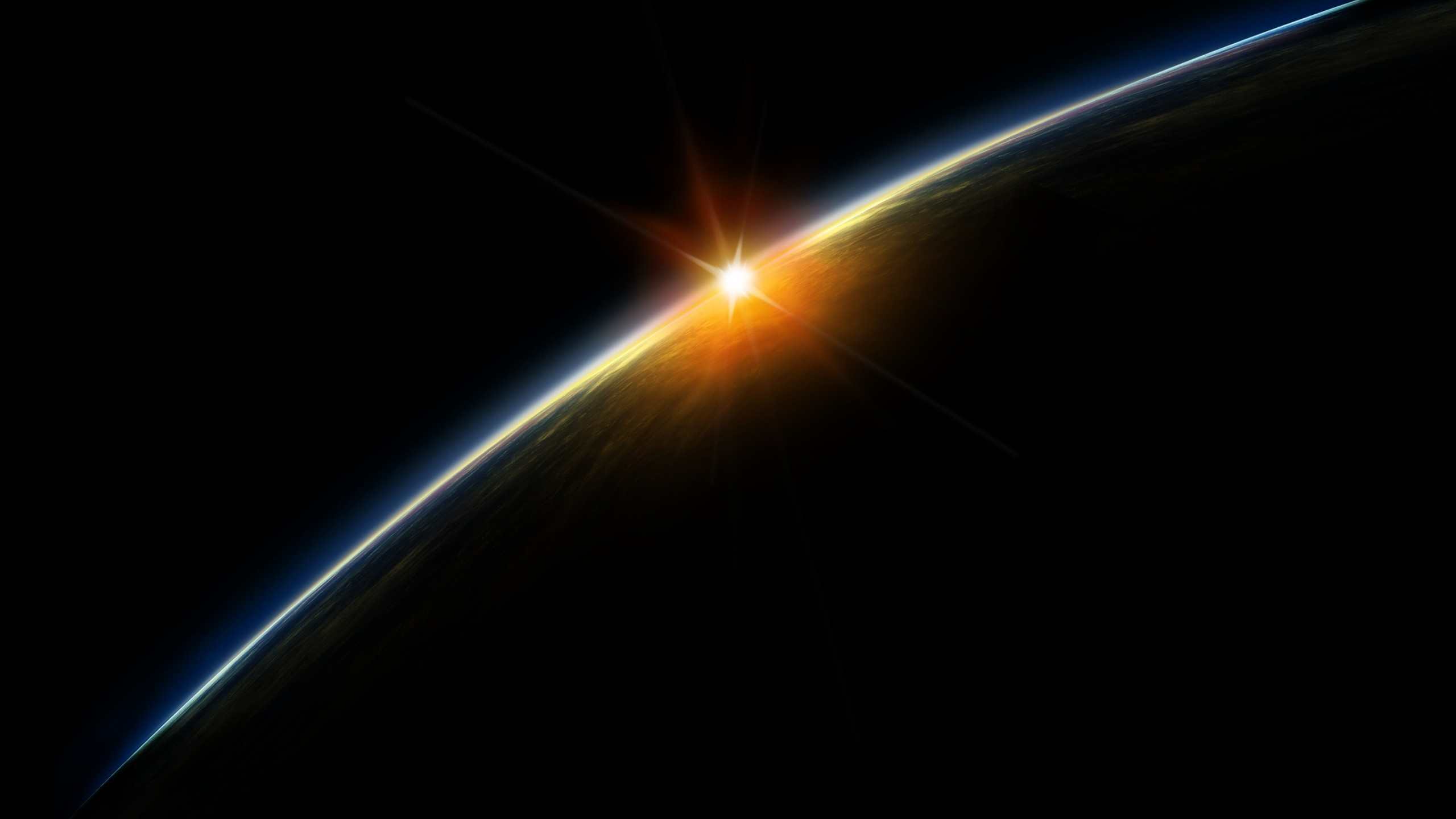 Sunrise from space. How to set wallpaper on your desktop? Click  the download link from above and set the wallpaper on the desktop from your  OS.