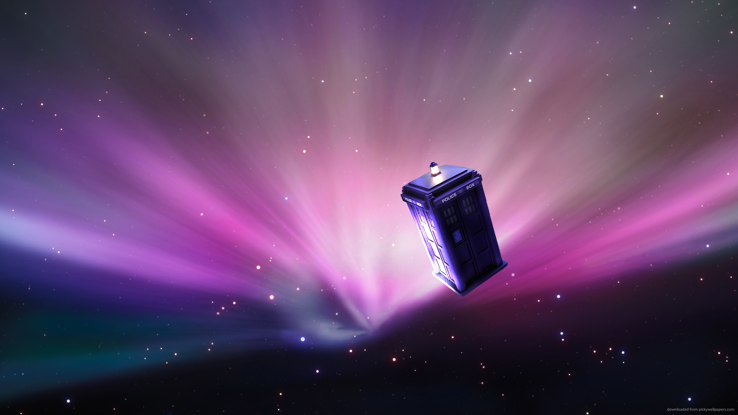 Tardis Drifting In Space for 2560×1440