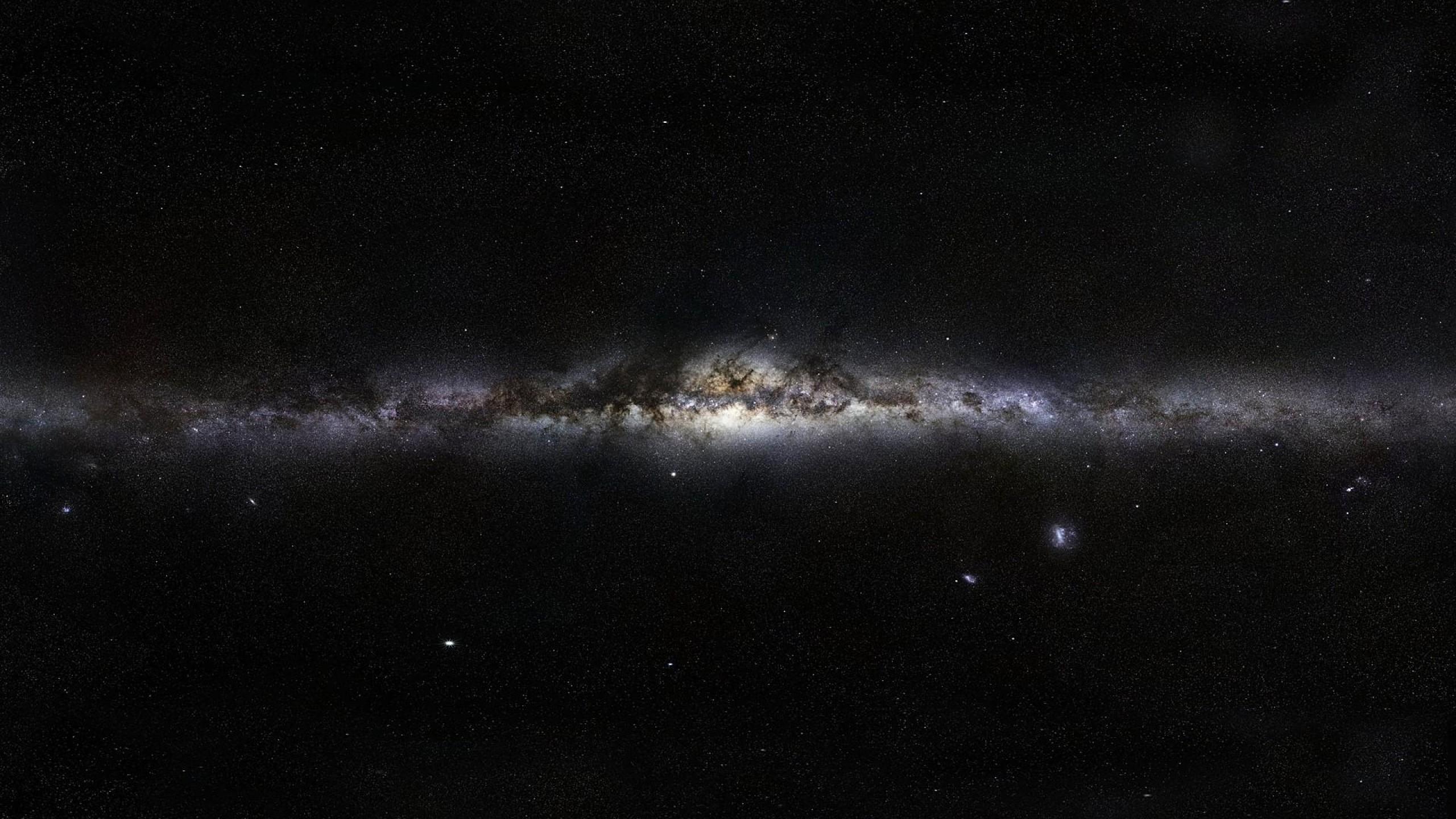 Preview wallpaper milky way, stars, space, nebula 2560×1440