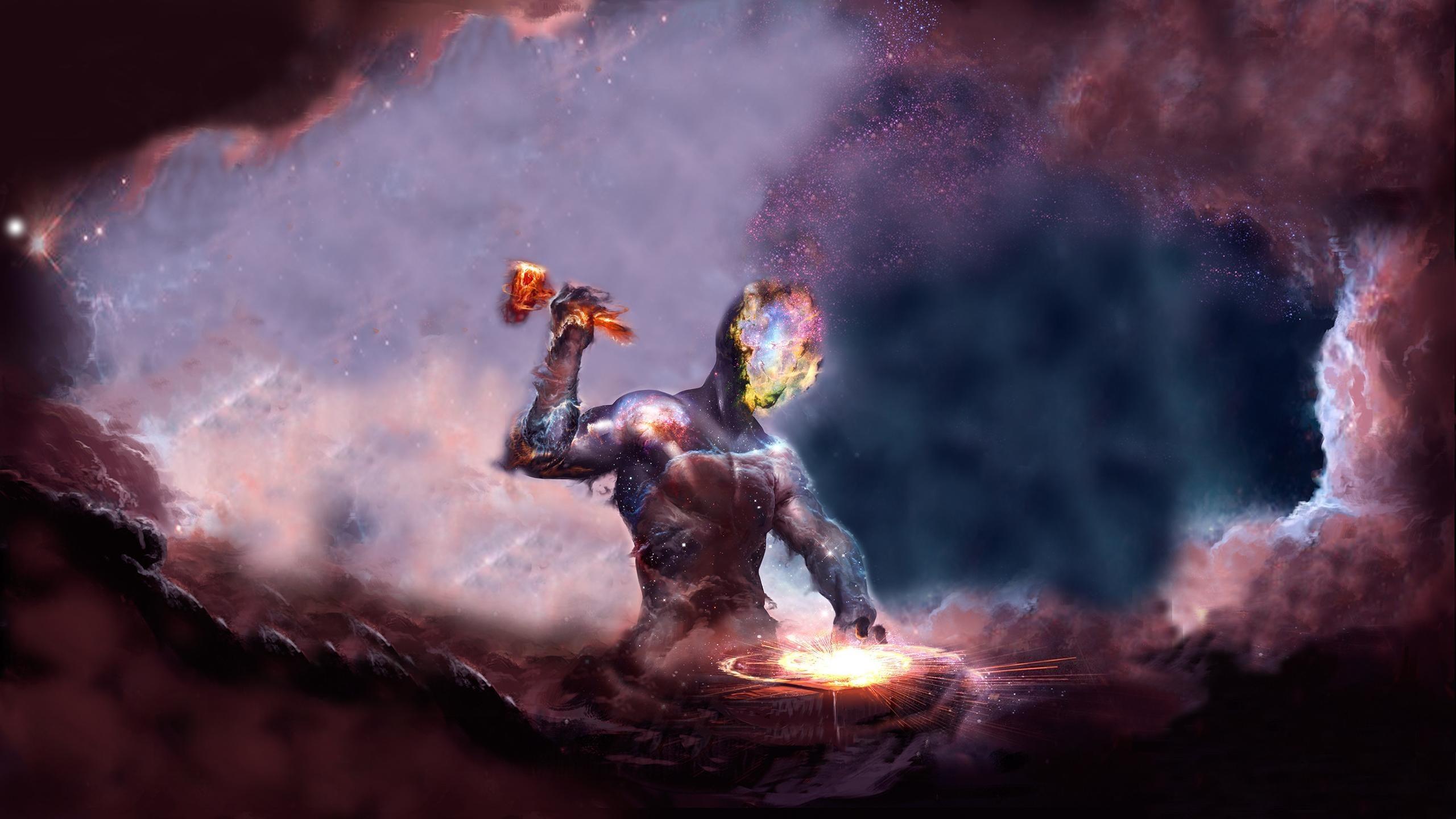 Preview wallpaper universe, space, nebula, galaxy 2560×1440