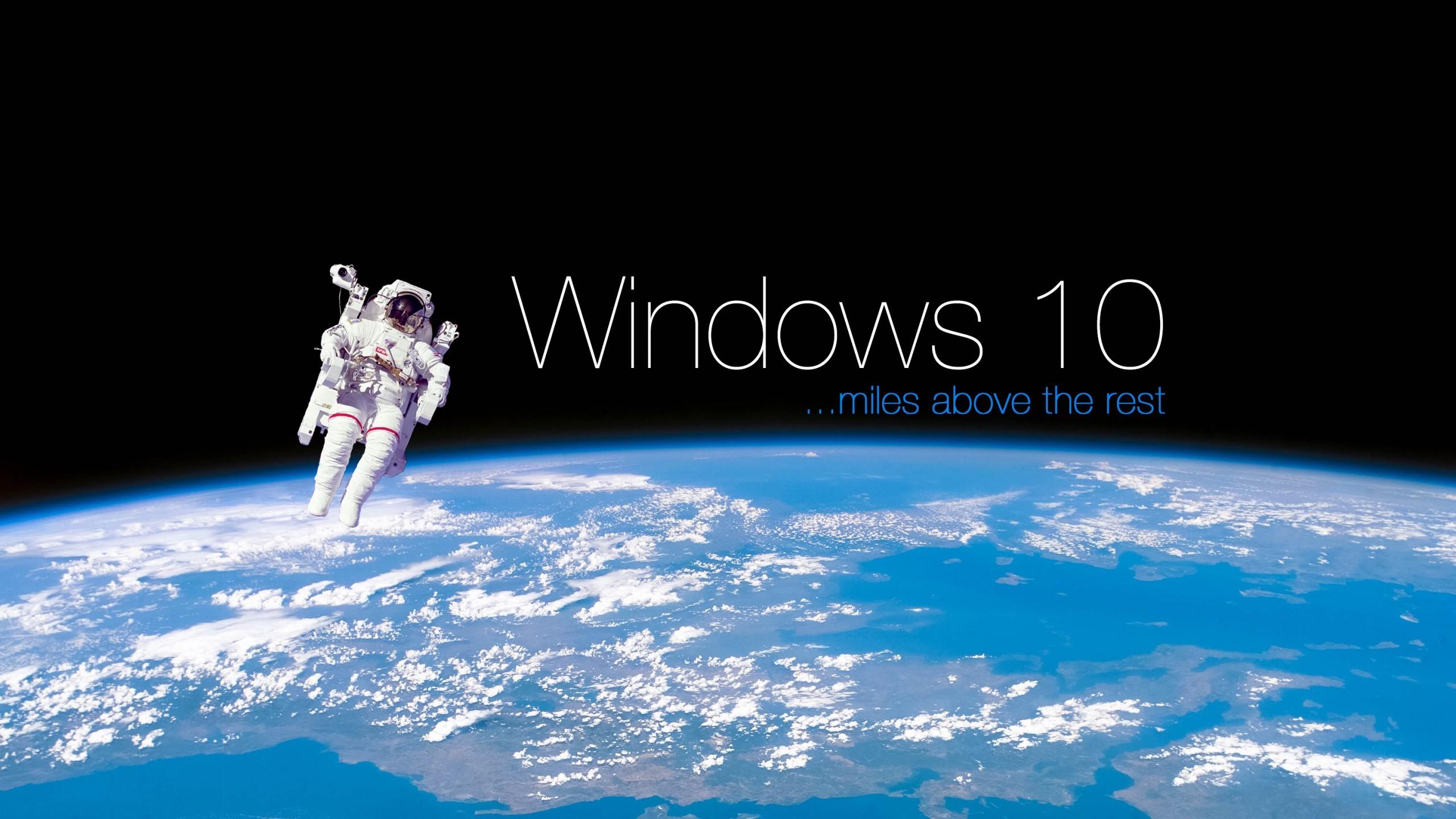 Windows 10 space 4k wallpaper