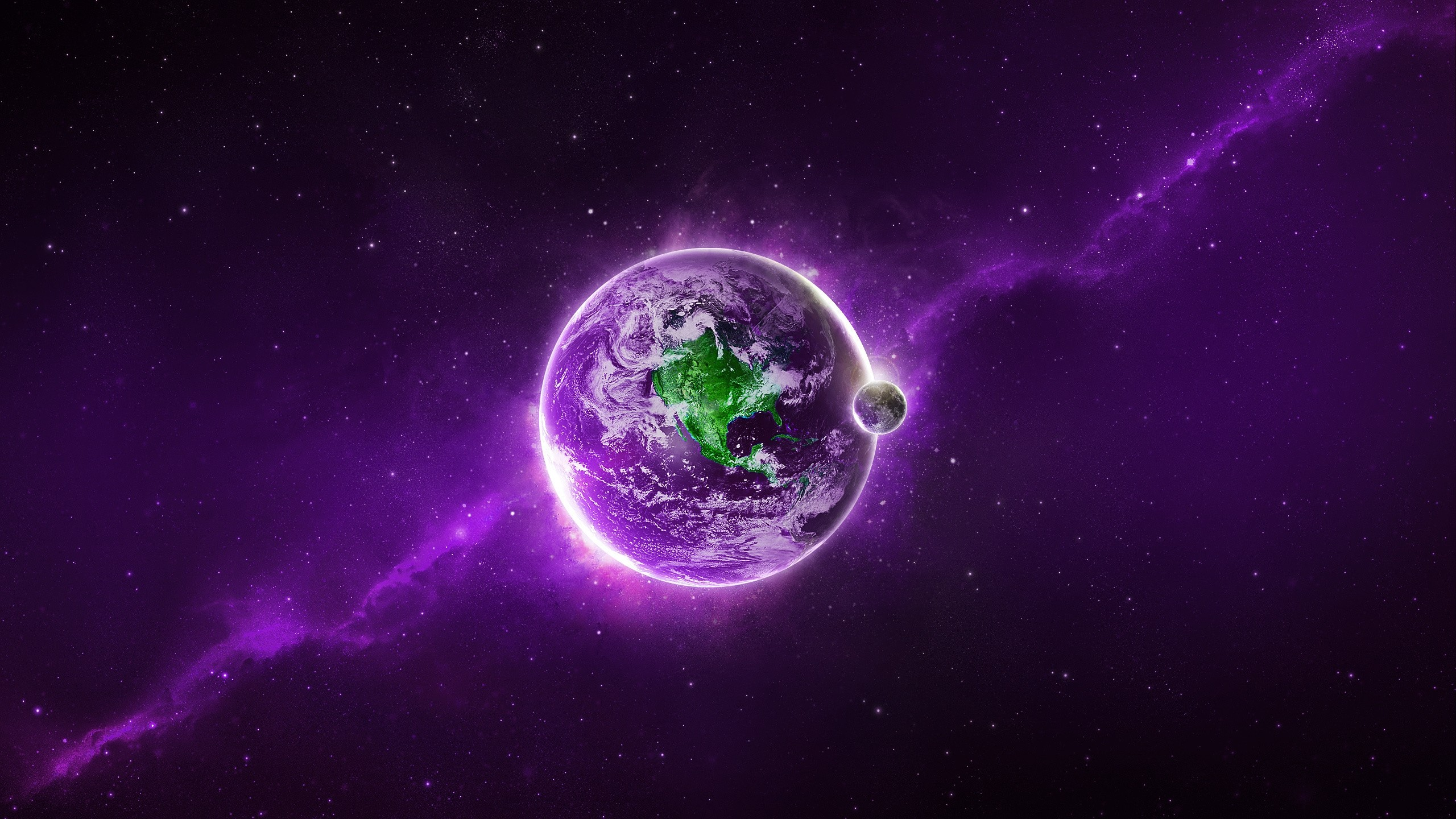 Purple Space Planet. How to set wallpaper on your desktop? Click  the download link from above and set the wallpaper on the desktop from your  OS.