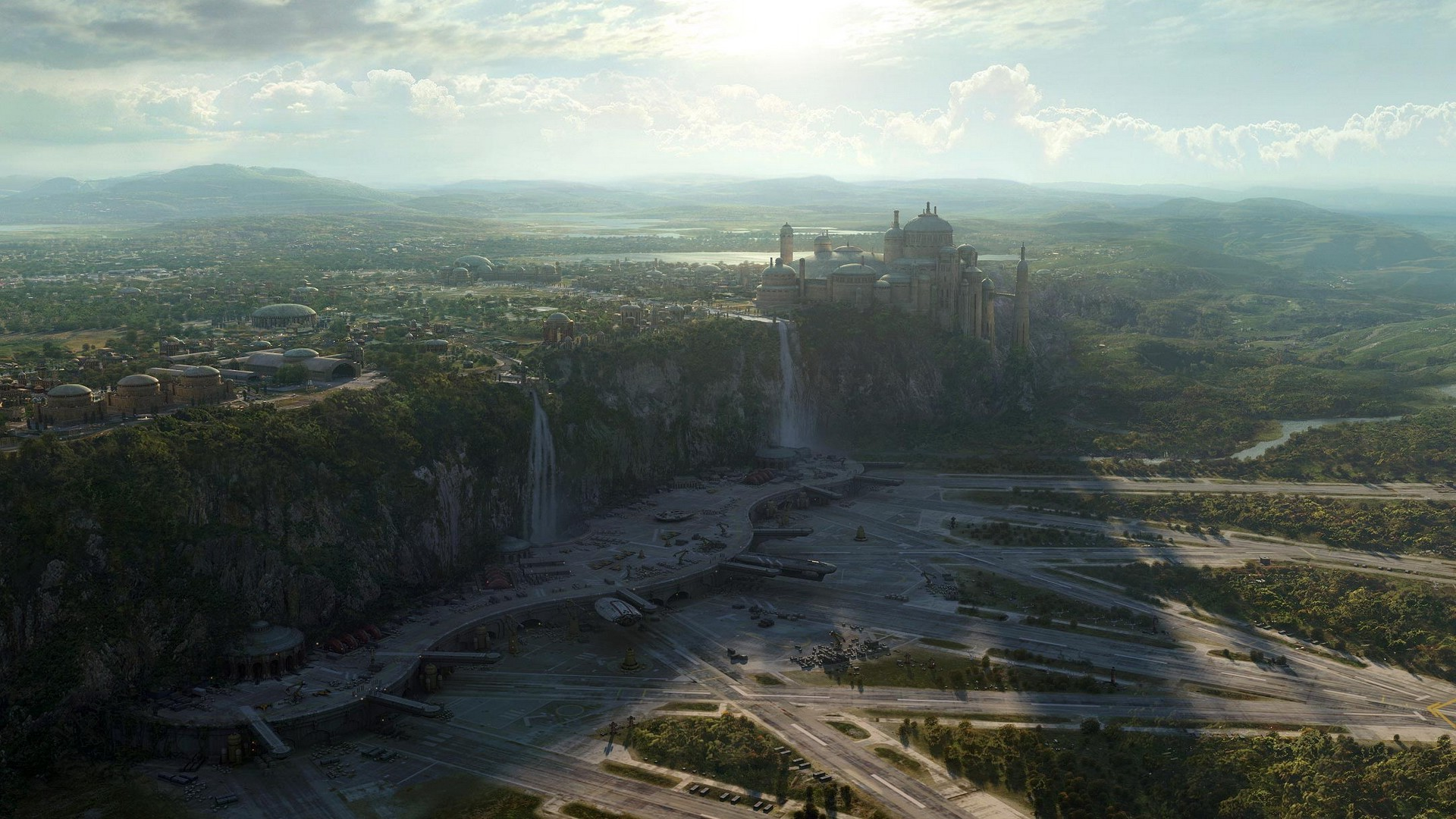 space, Naboo, Star Wars, Waterfall Wallpapers HD / Desktop and Mobile  Backgrounds