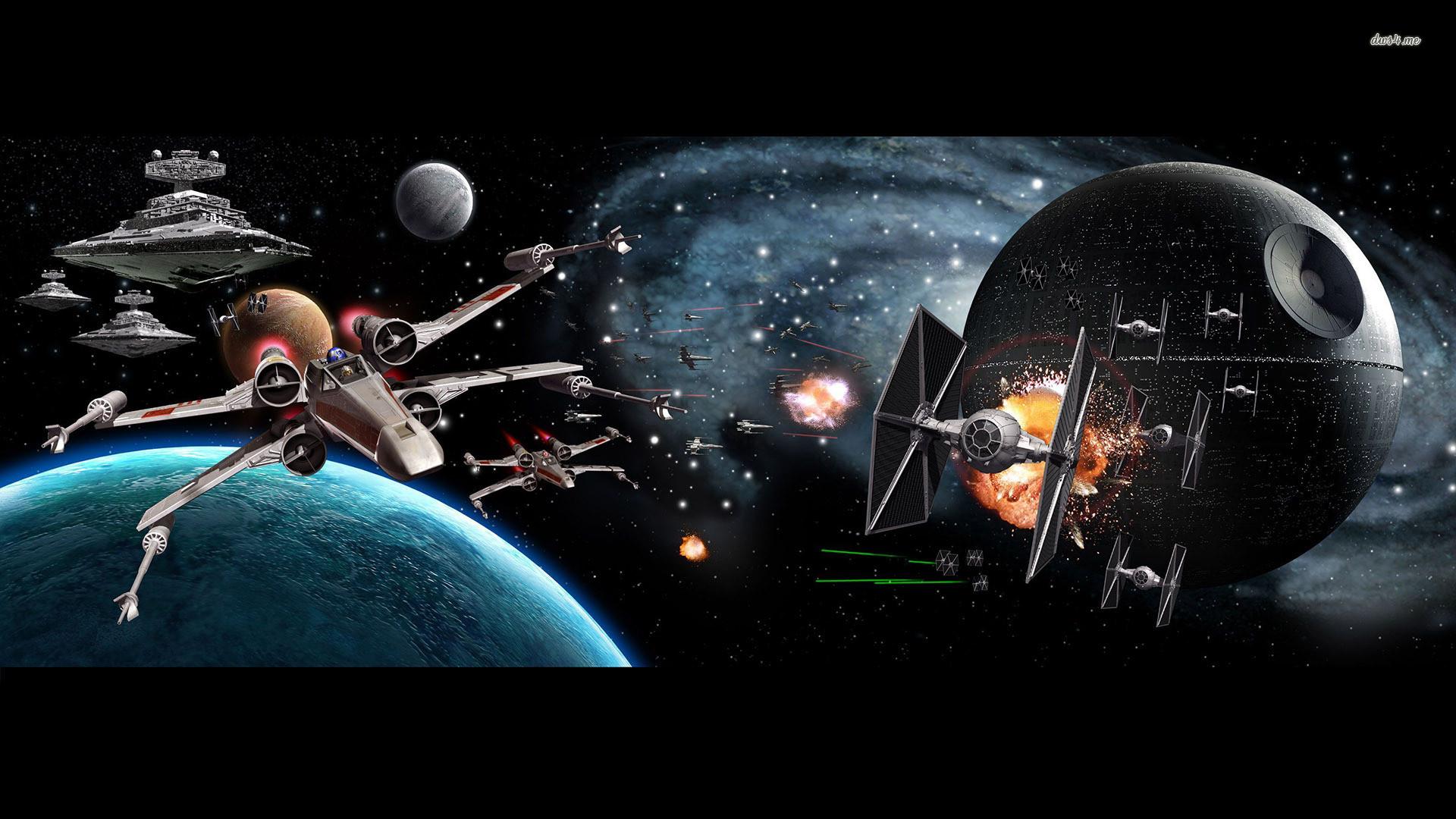 Movie – Star Wars X-Wing Star Destroyer Death Star TIE Fighter Wallpaper