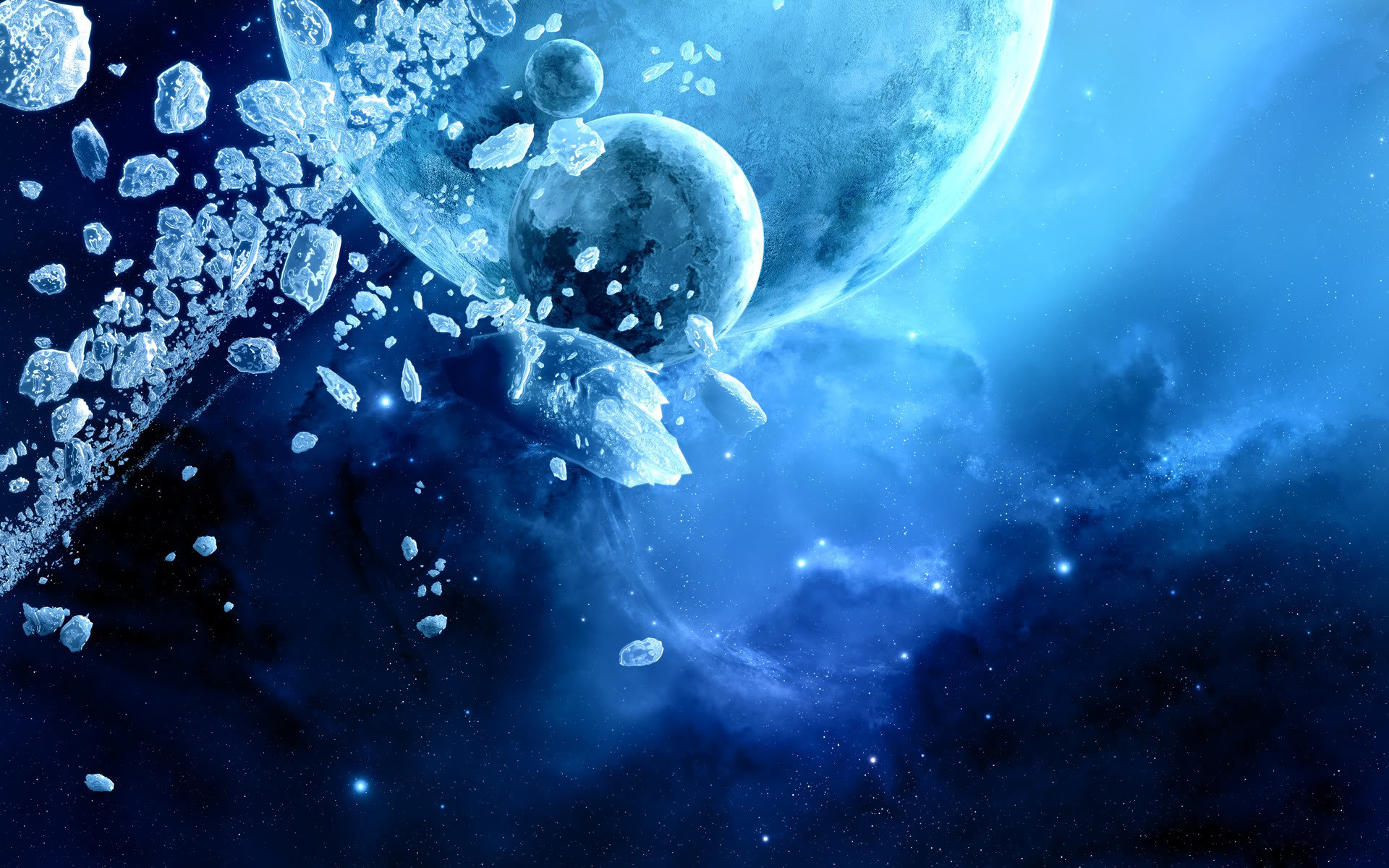 Blue Space Wallpaper 5751