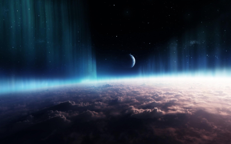 Download Wallpaper 1920×1080 Planet, Rings, Sky, Space Full HD .