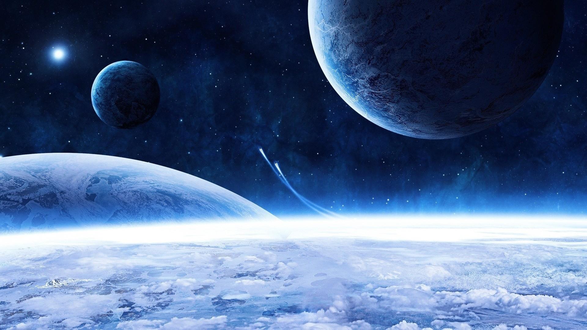 Blue Space Wallpaper 5760