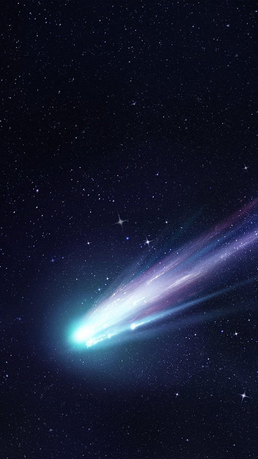 Shooting Star Space Dark Star Blue Art Illustration #iPhone #6 #plus # wallpaper