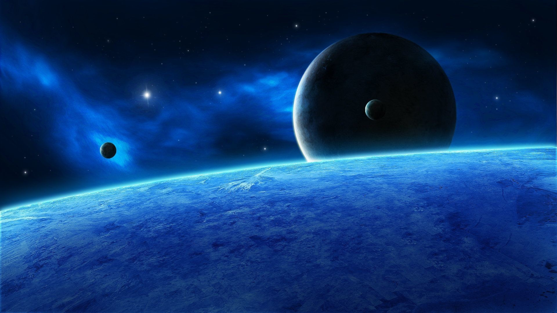 Blue space Wallpaper #35493