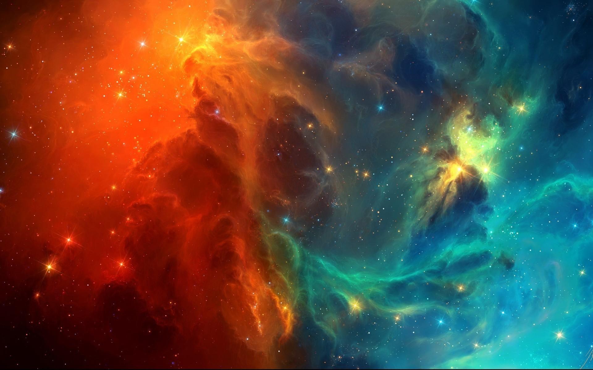 Orange & Blue Space