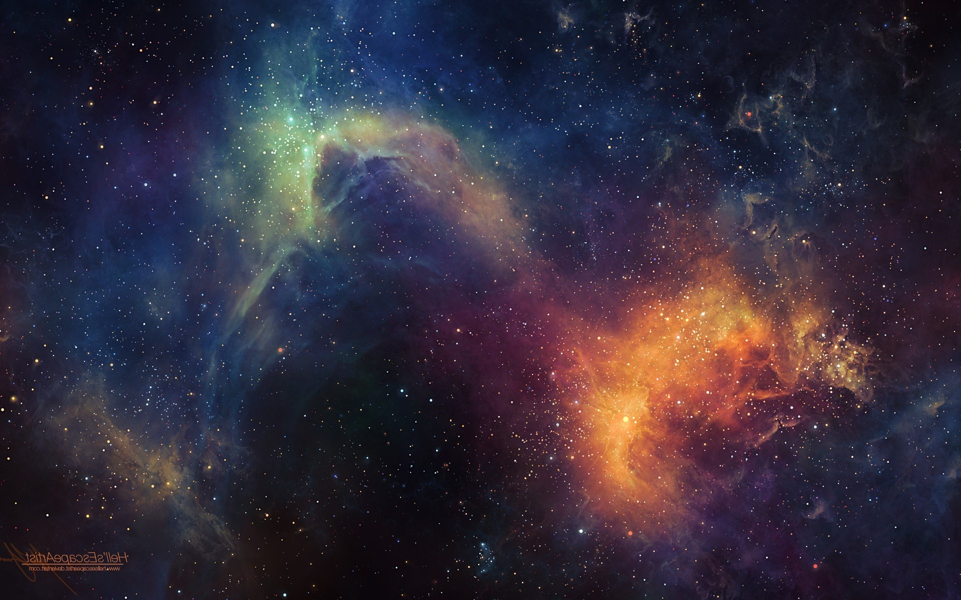 space, Digital Art, TylerCreatesWorlds Wallpapers HD / Desktop and Mobile  Backgrounds