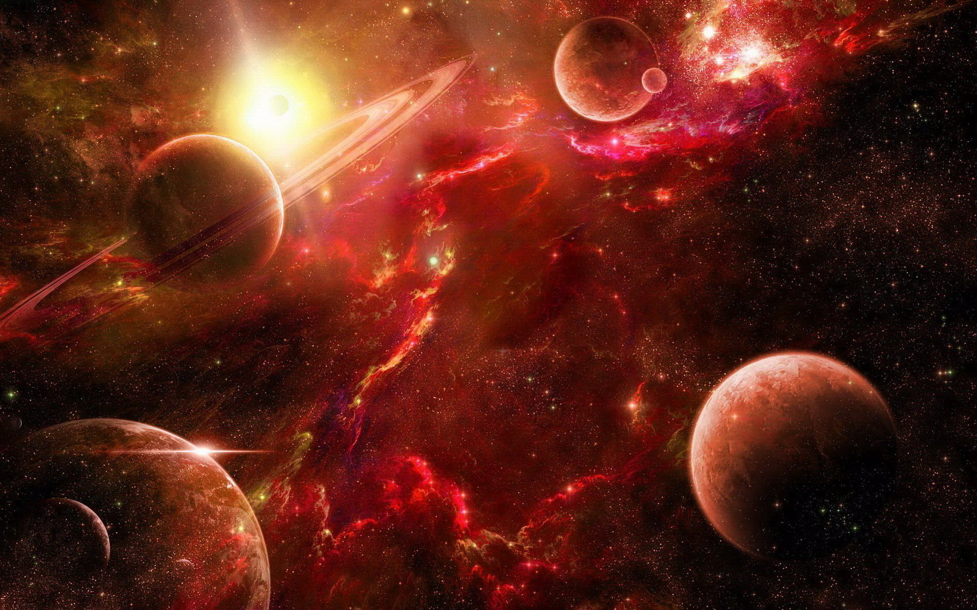 Red space wallpapers and images – wallpapers, pictures, photos