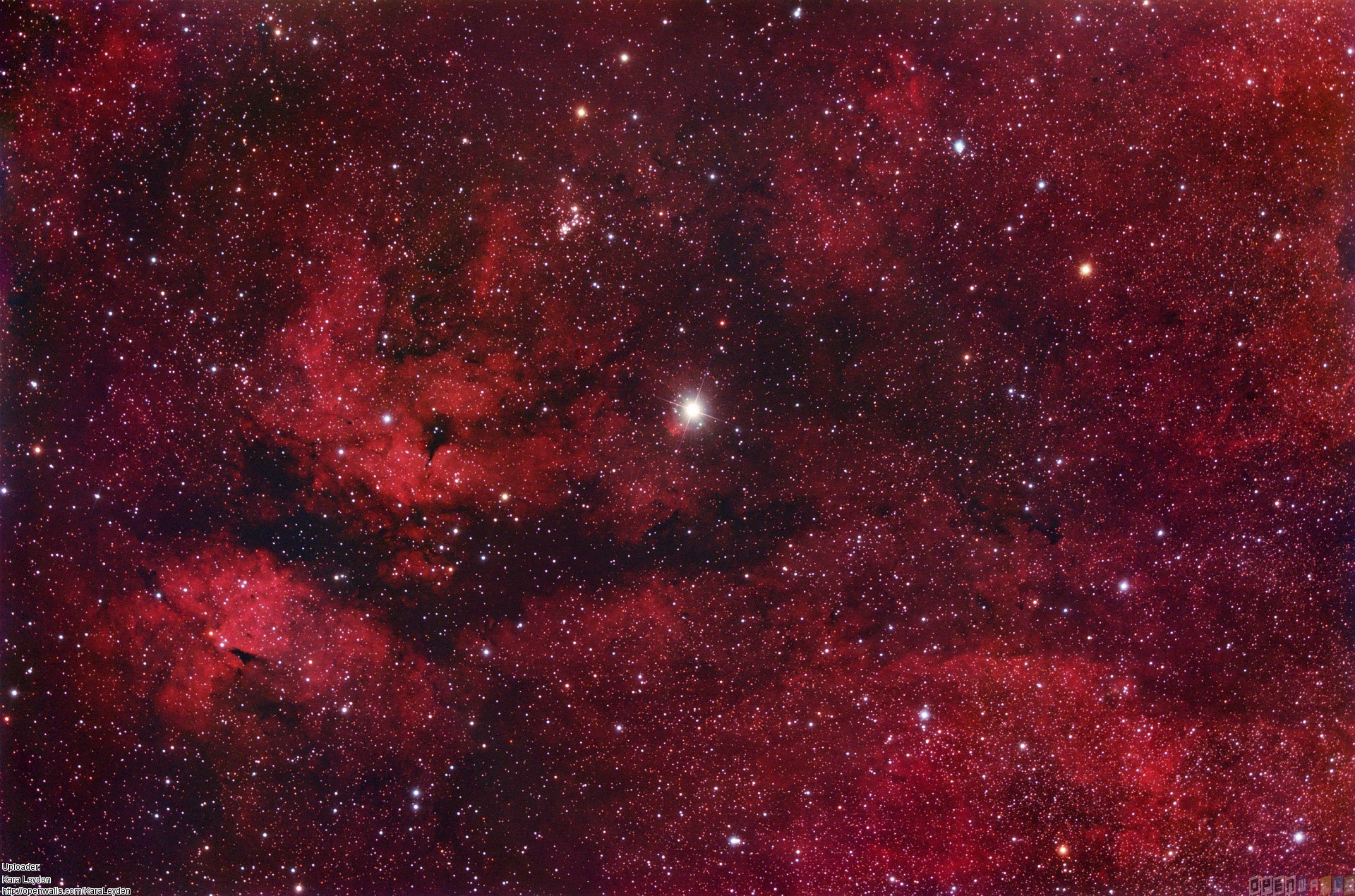 Red space wallpaper #21862 – Open Walls